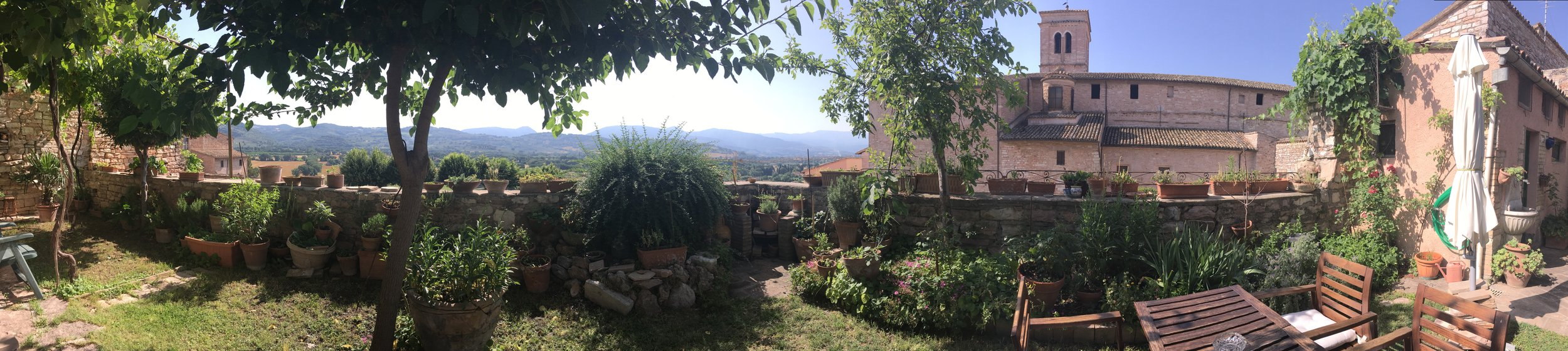 View from our garden in Spello, Umbria