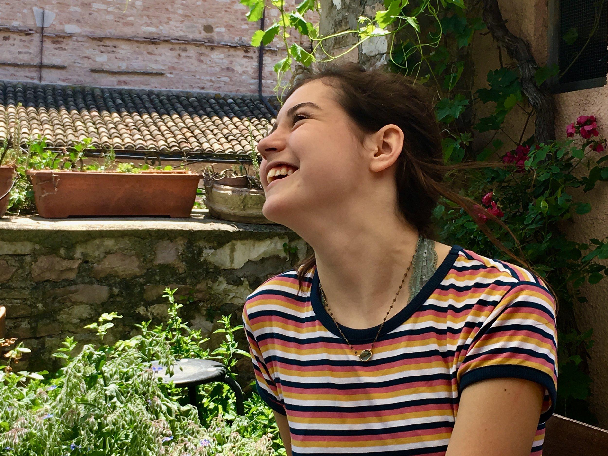 Siena in the garden in Spello, Umbria