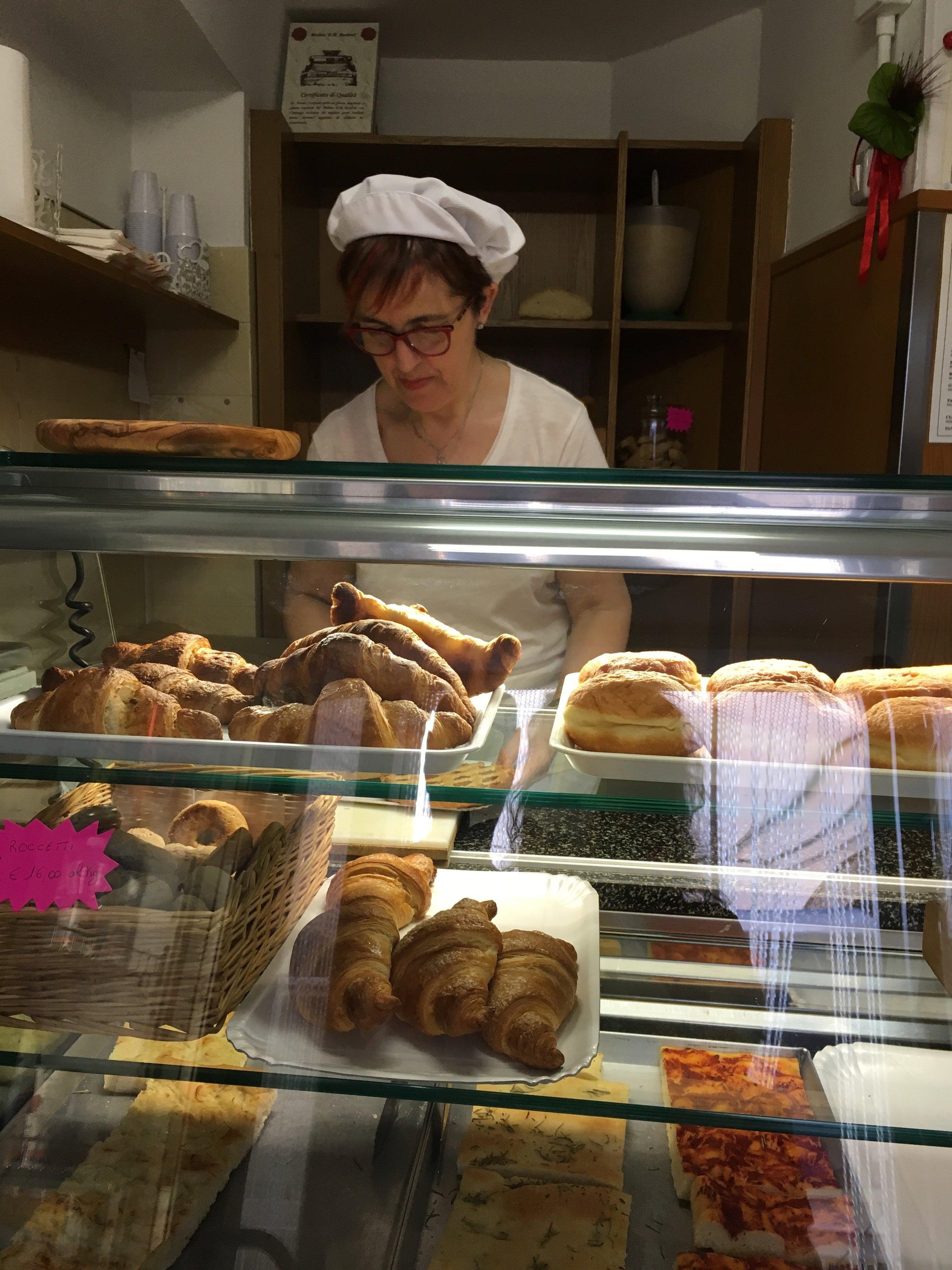 The forno's offerings in Spello, Umbria