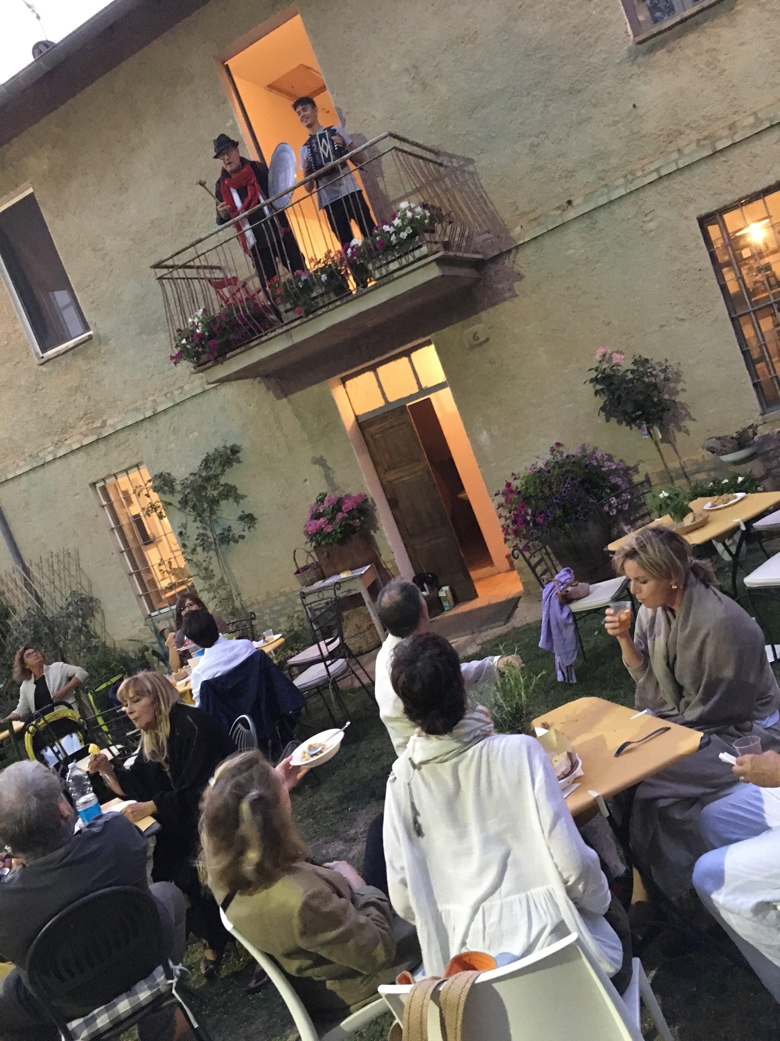 Party in Spello, Umbria
