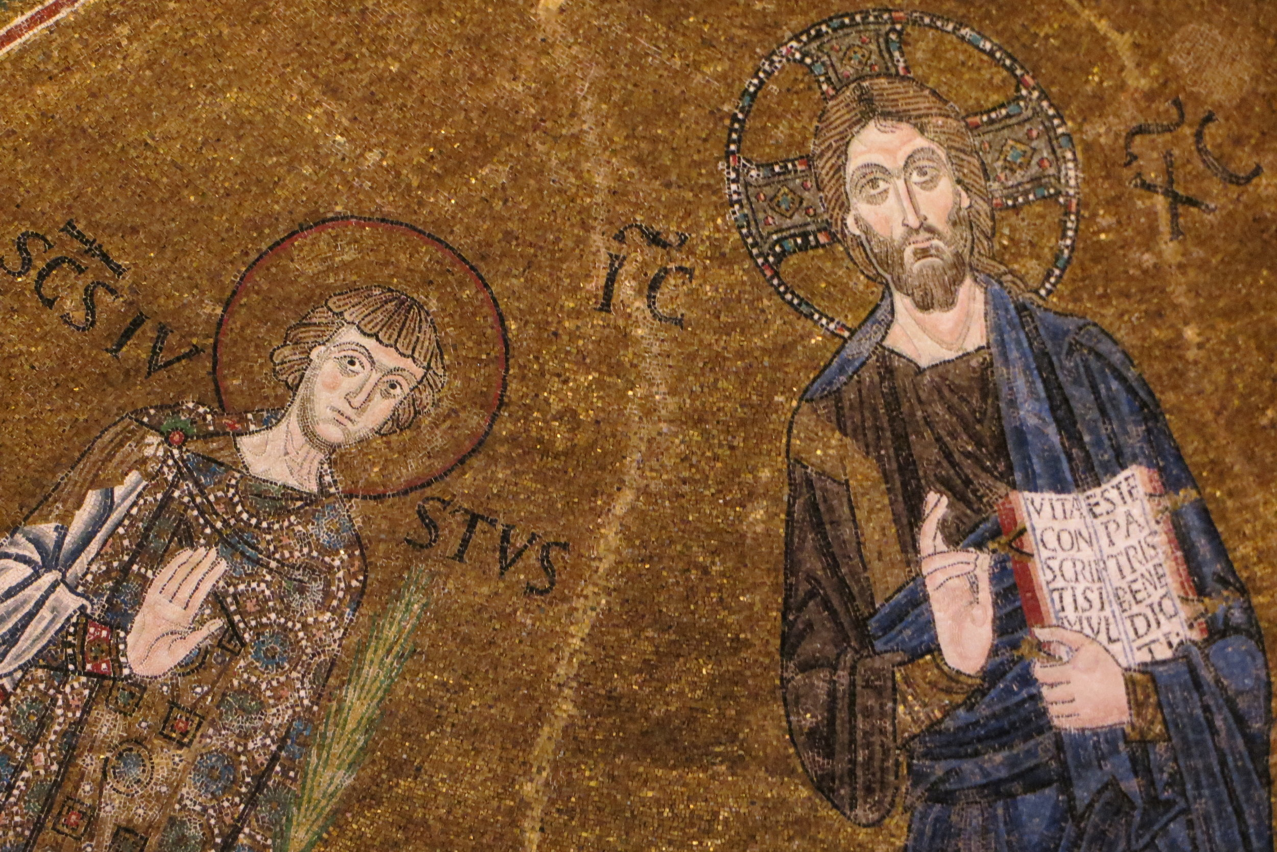 Mosaic of San Guisto and Jesus from the Basilica of San Giusto, Trieste, 12th-13th c)