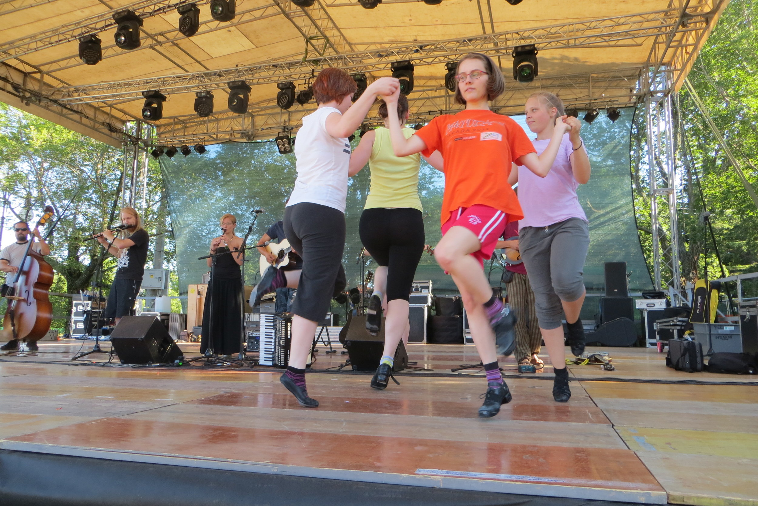 Irish dancing at the Triskell Celtic Music Festival