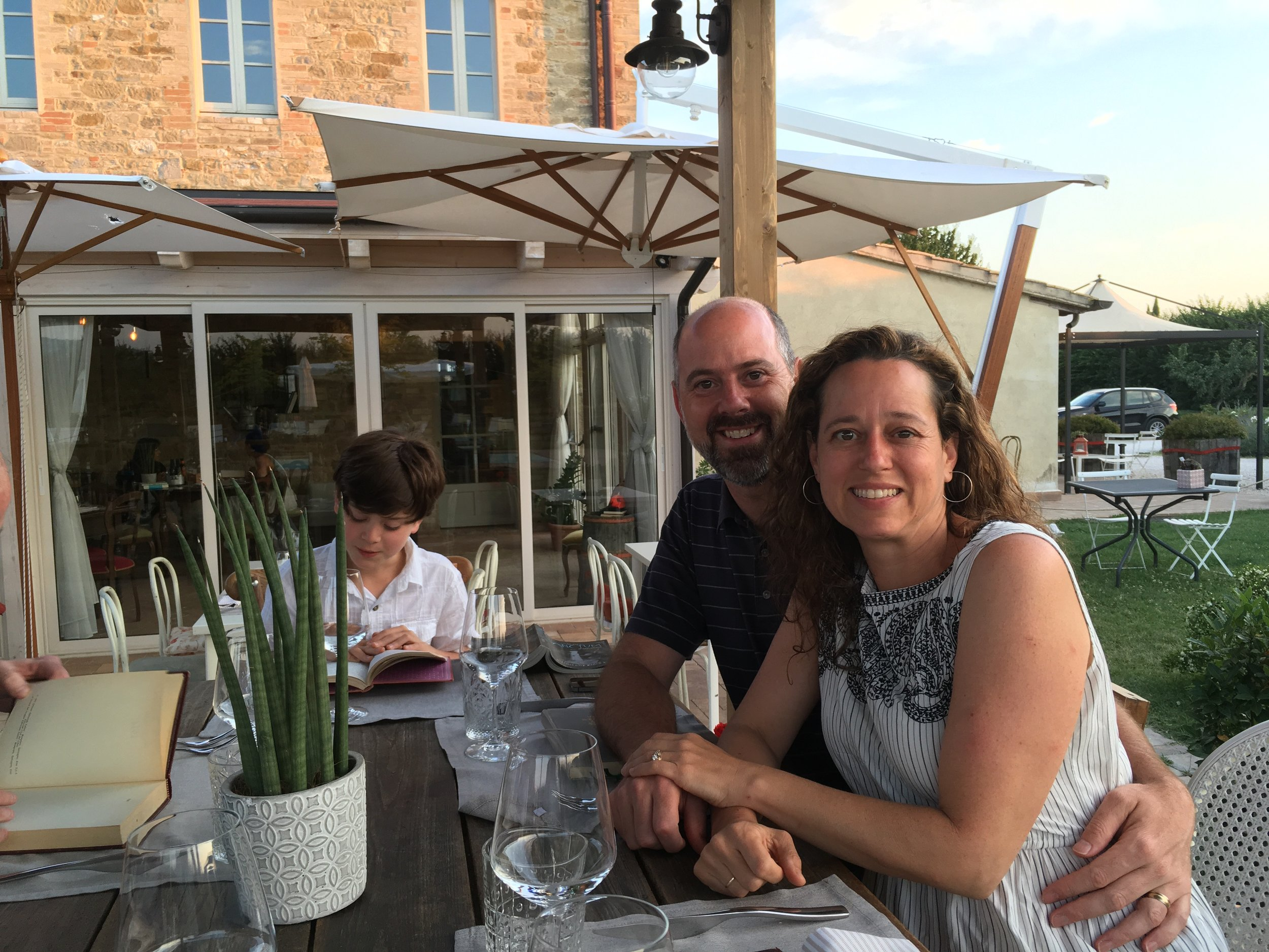 Evening out with Brenda and Graziano