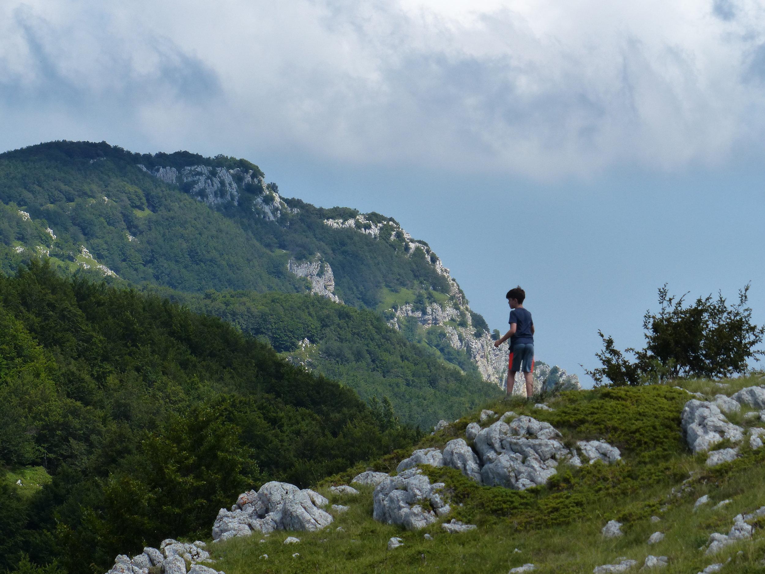 Gabe climbs the hills in Abruzzo