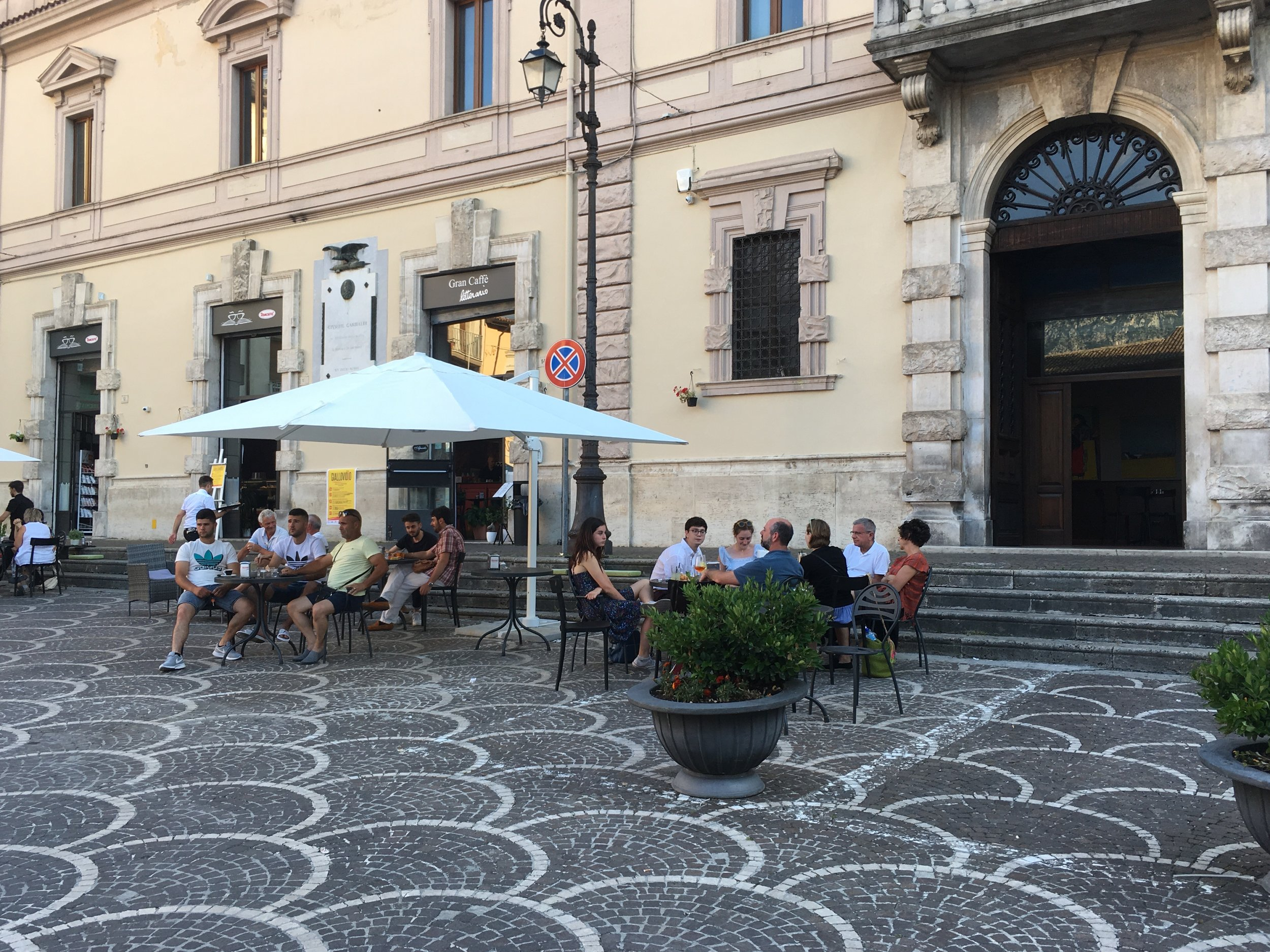 An aperitivo with friends