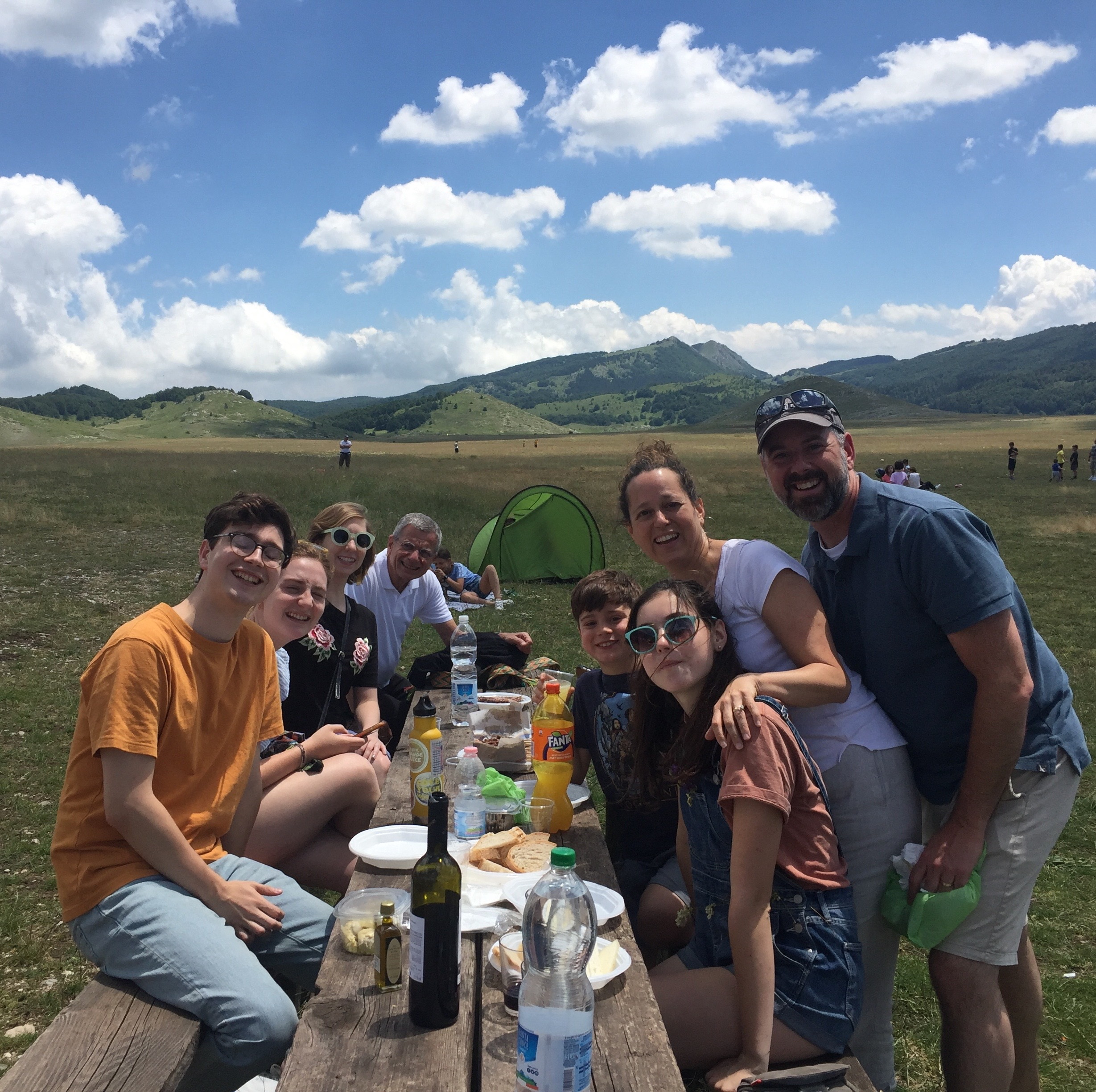 Lunch with friends in the grande outdoors