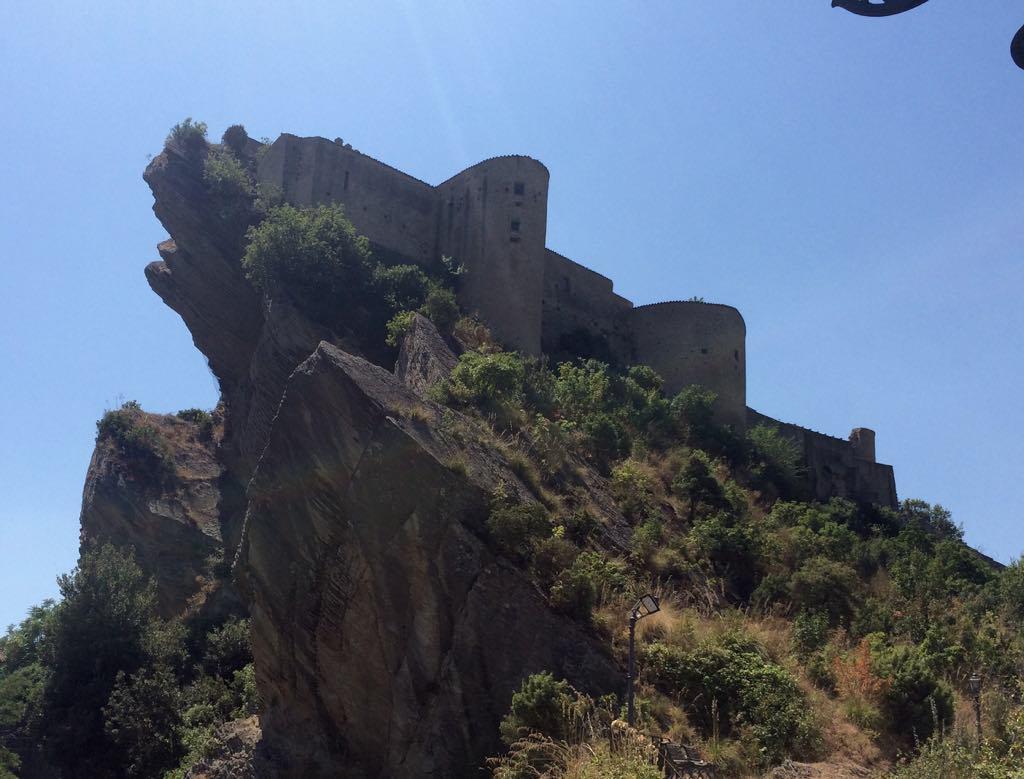 Spooky castle of roccascalegna in abruzzo