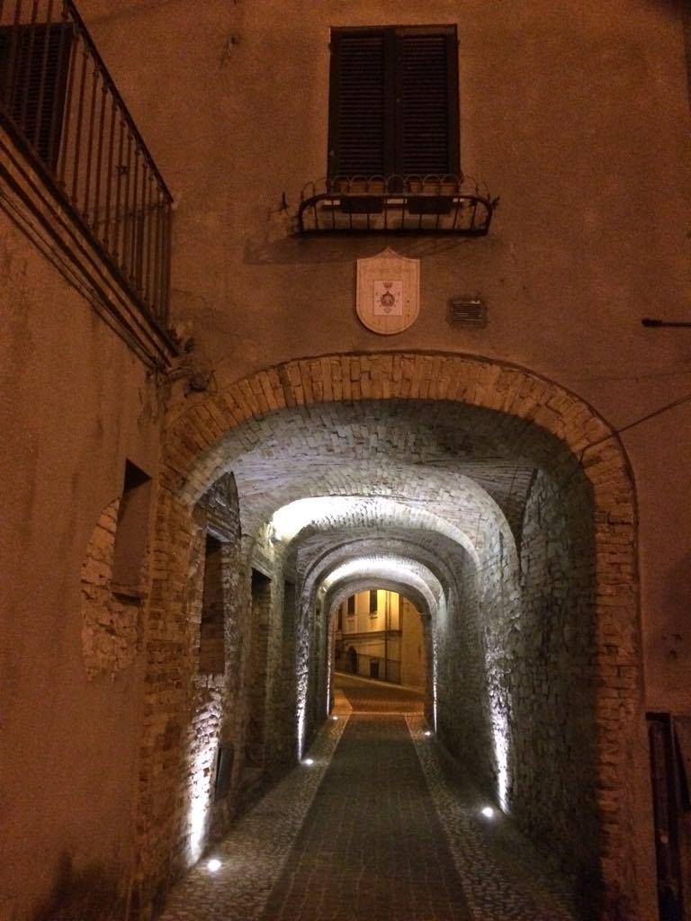 tunnel entrance and Castiglione Messer Raimondo, Abruzzo