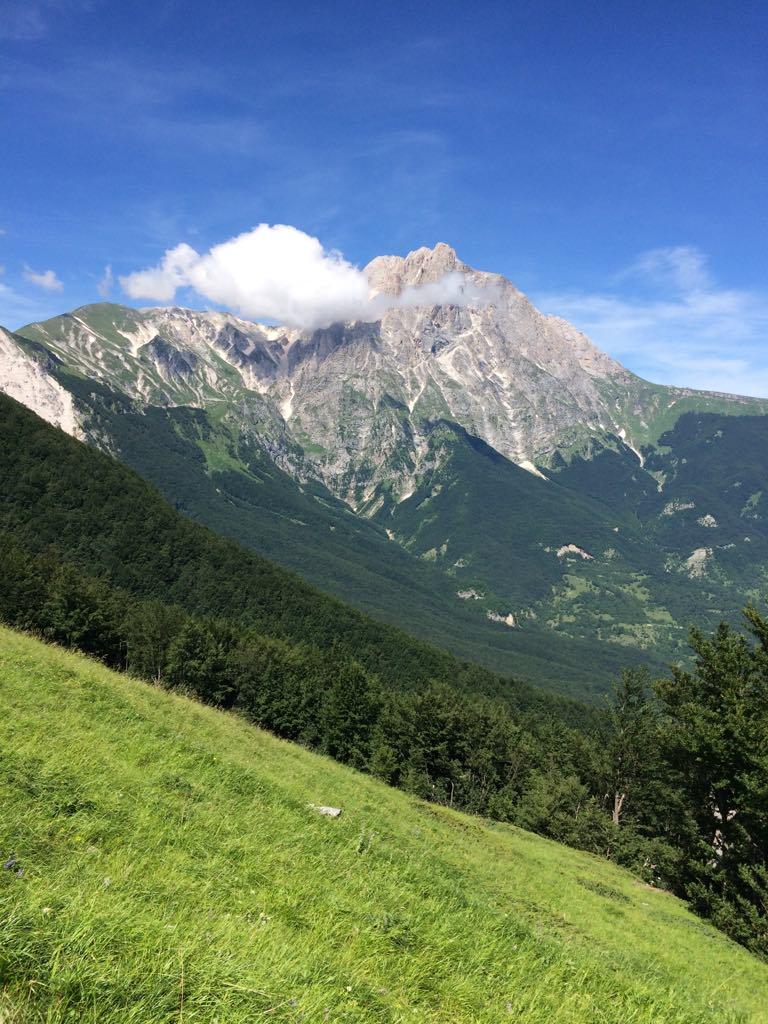 Gran Sasso mountains in abruzzo