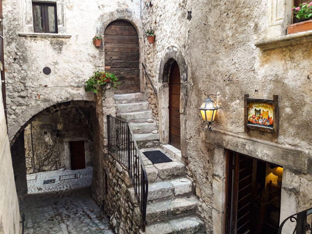 Steps in Santo Stefano di Sessanio, Campo Imperatore
