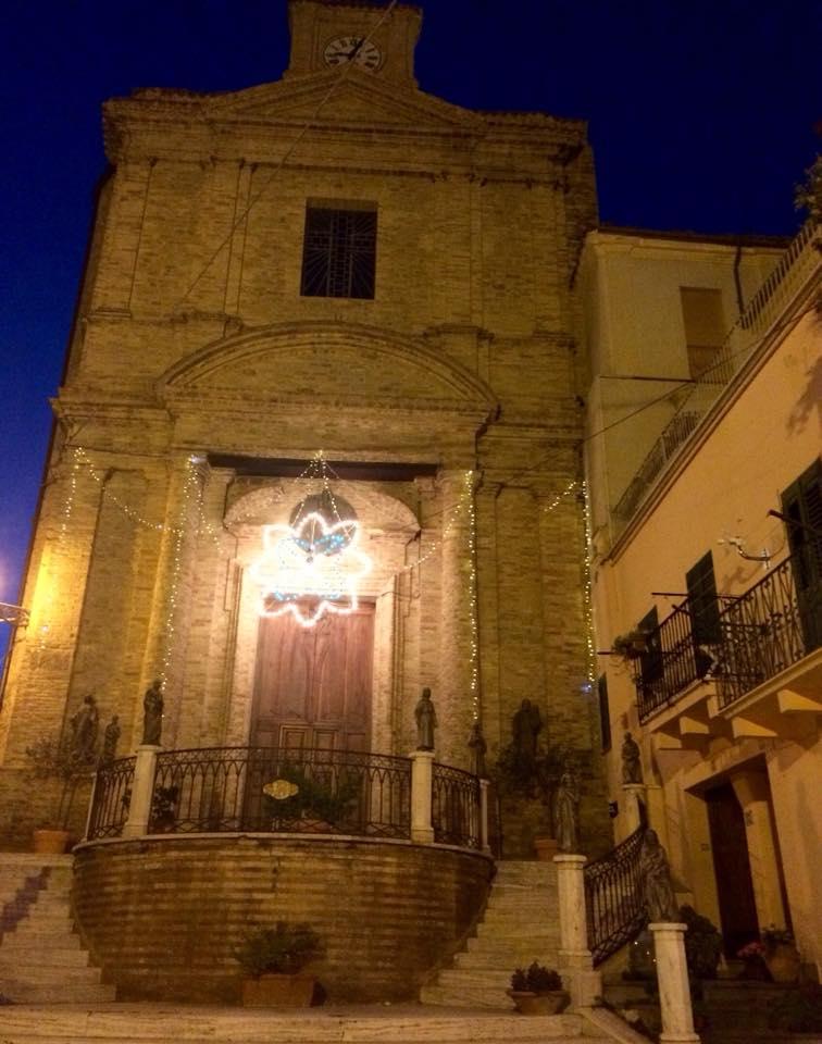 Chiesa di San Donato decorated for the annual festa honoring the saint