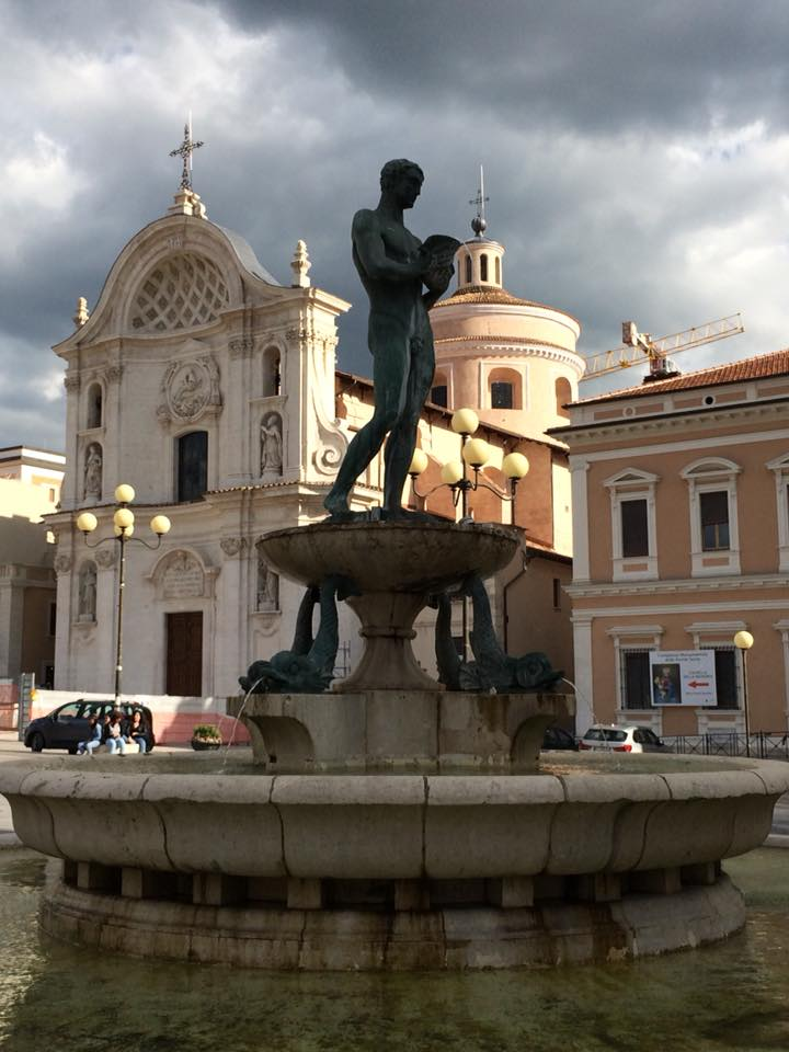 Fountain in nearby l'aquila