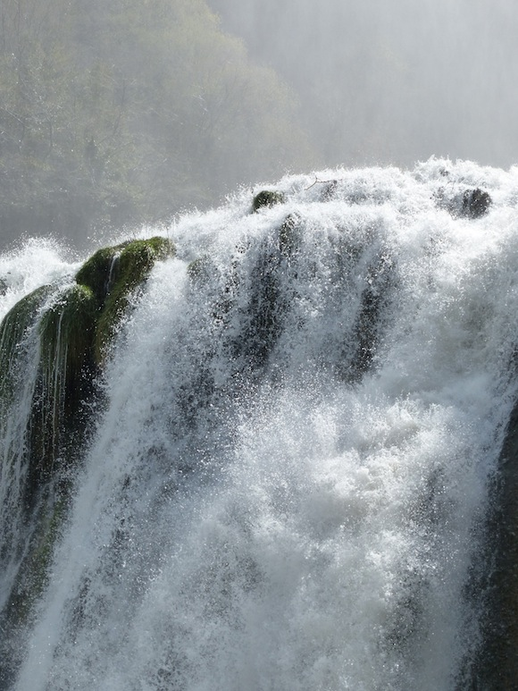 Detail of falls in Cascate delle Marmore, Umbria