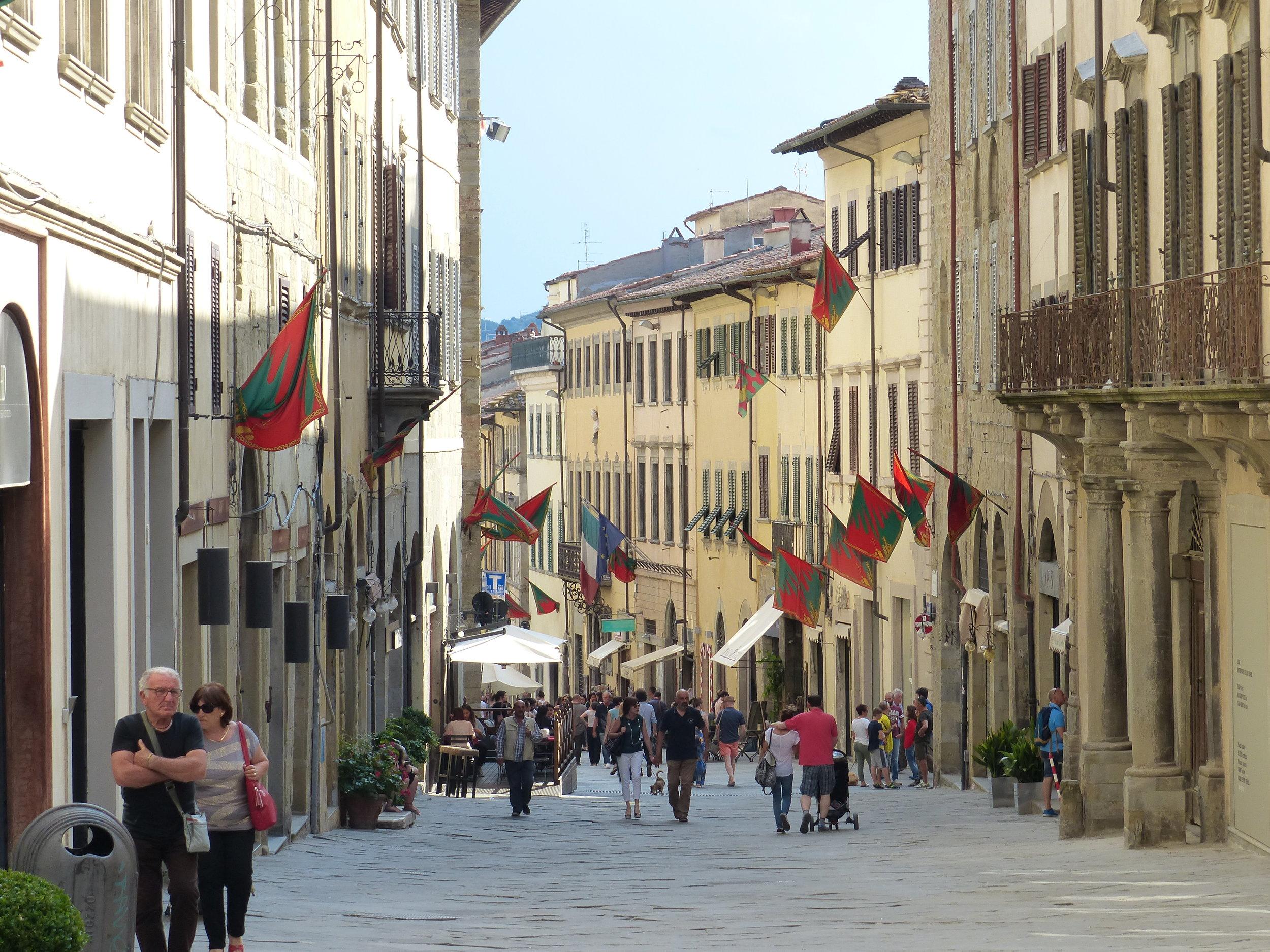 Street in Arezzo, Tuscany