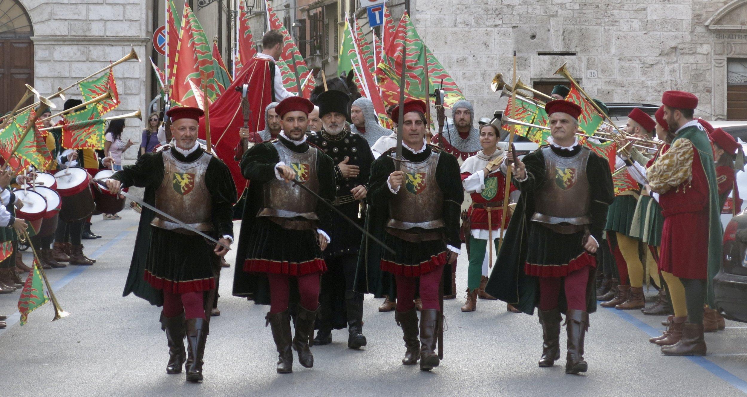 parade in Le Marche, Italy
