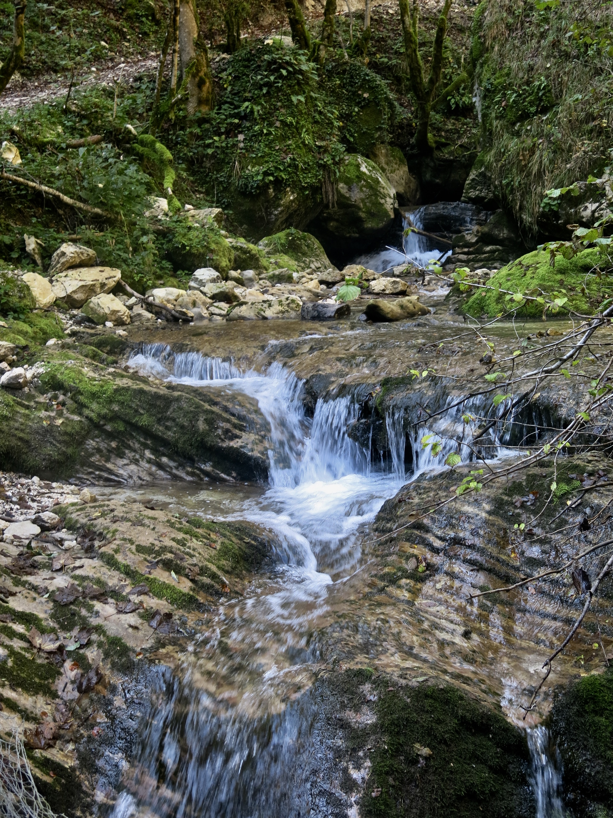 waterfall in Le Marche, Italy