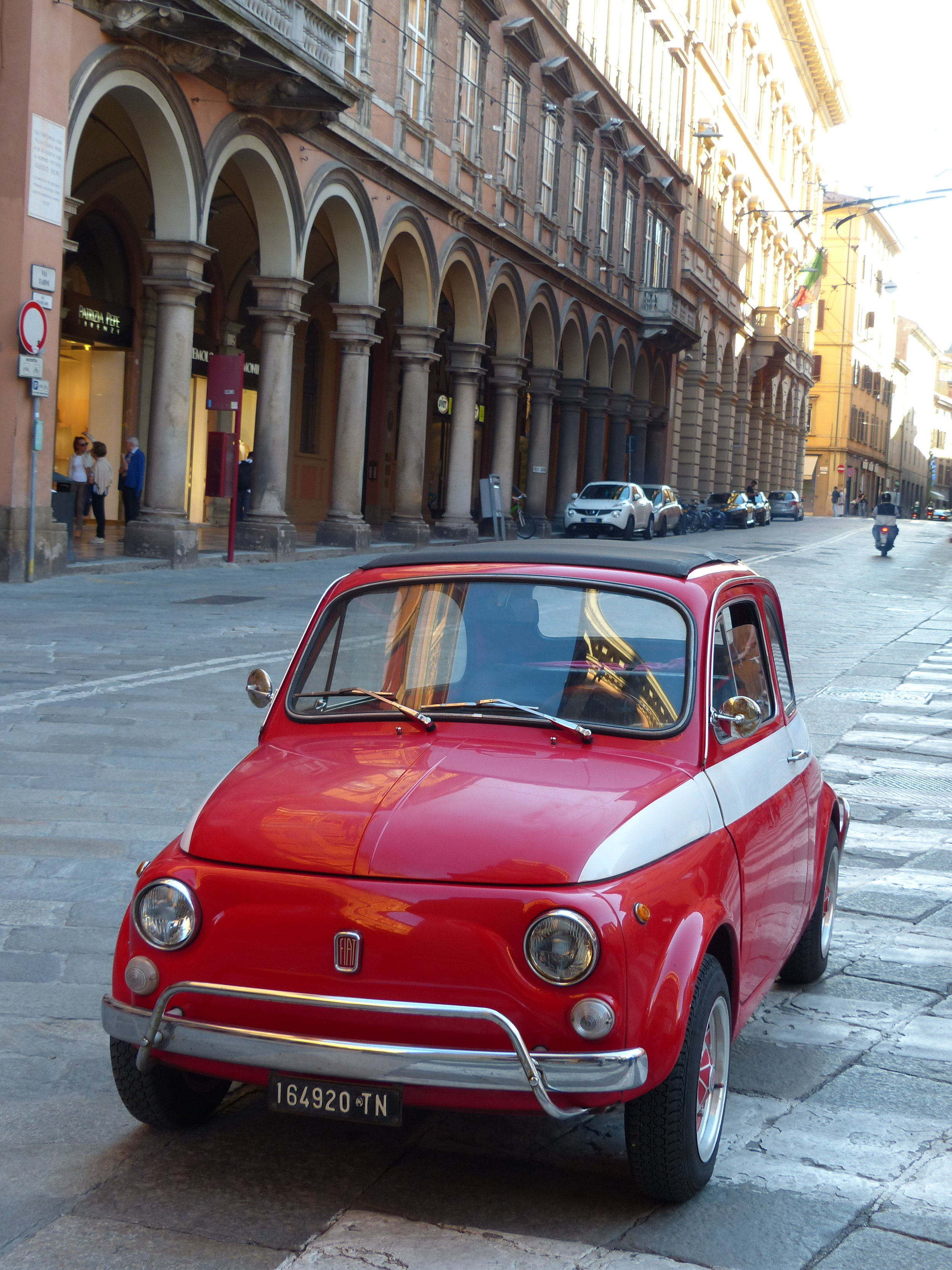 red car in bologna, Italy