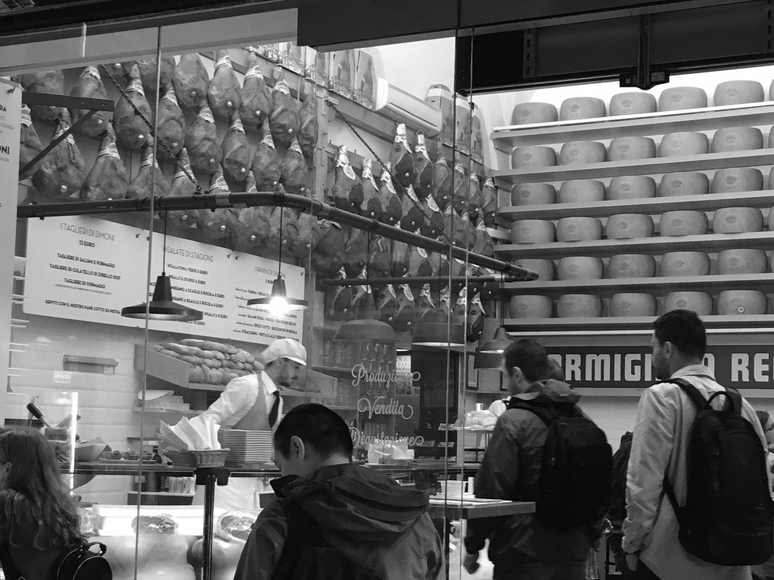 Parmesan in Bologna
