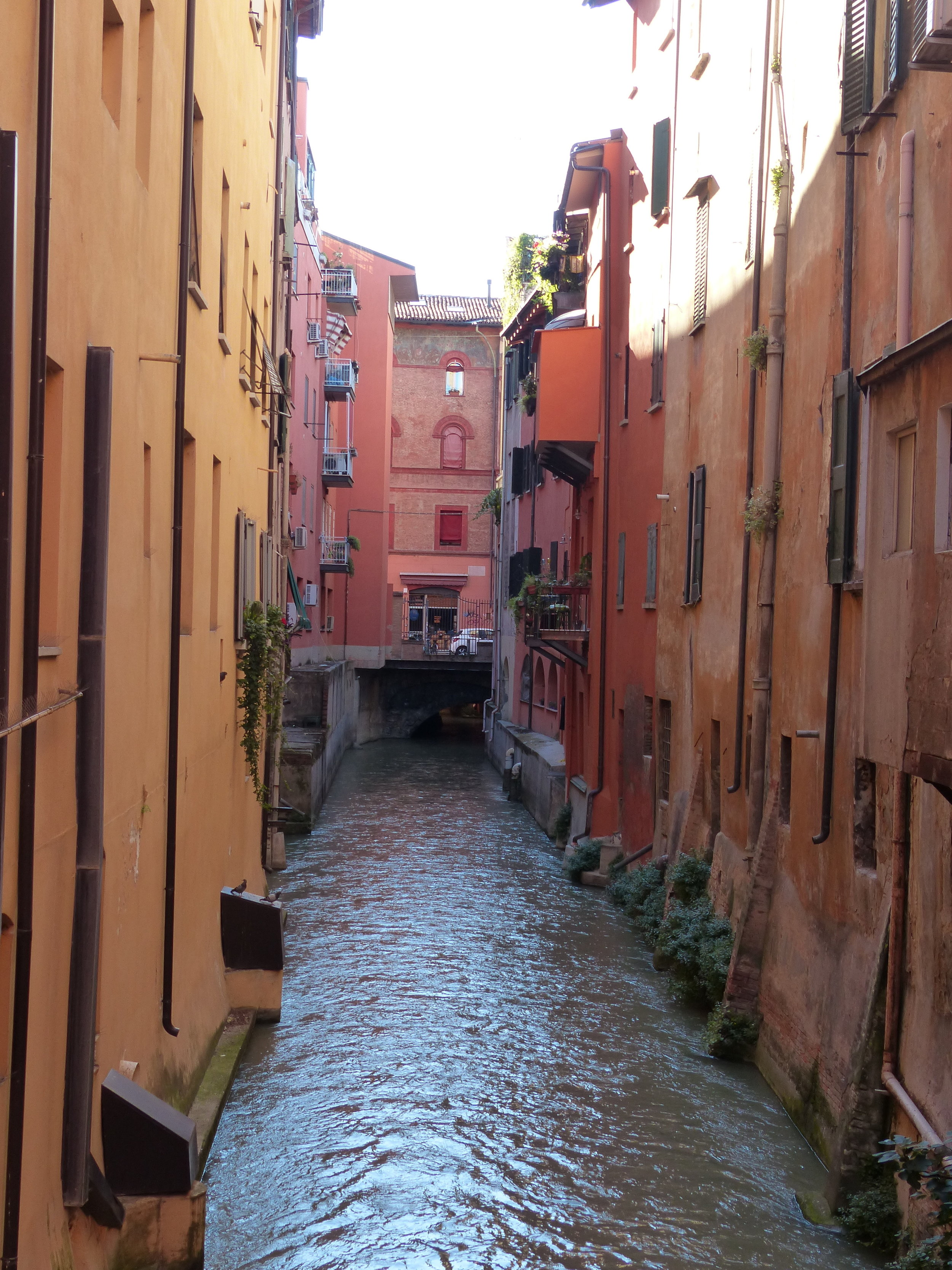 Remnant of old Canal network in Bologna, Italy