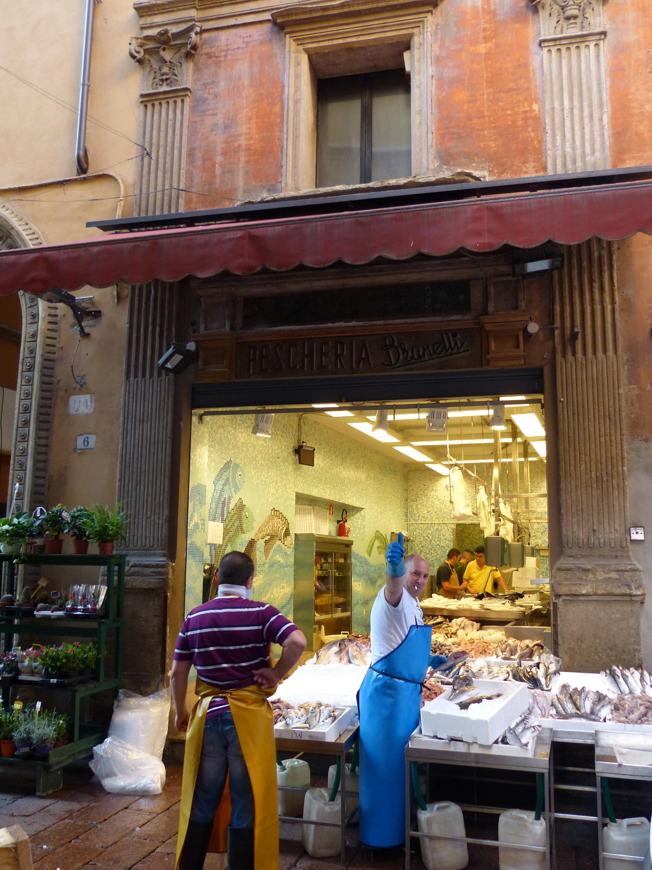 Bologna fish market, Italy