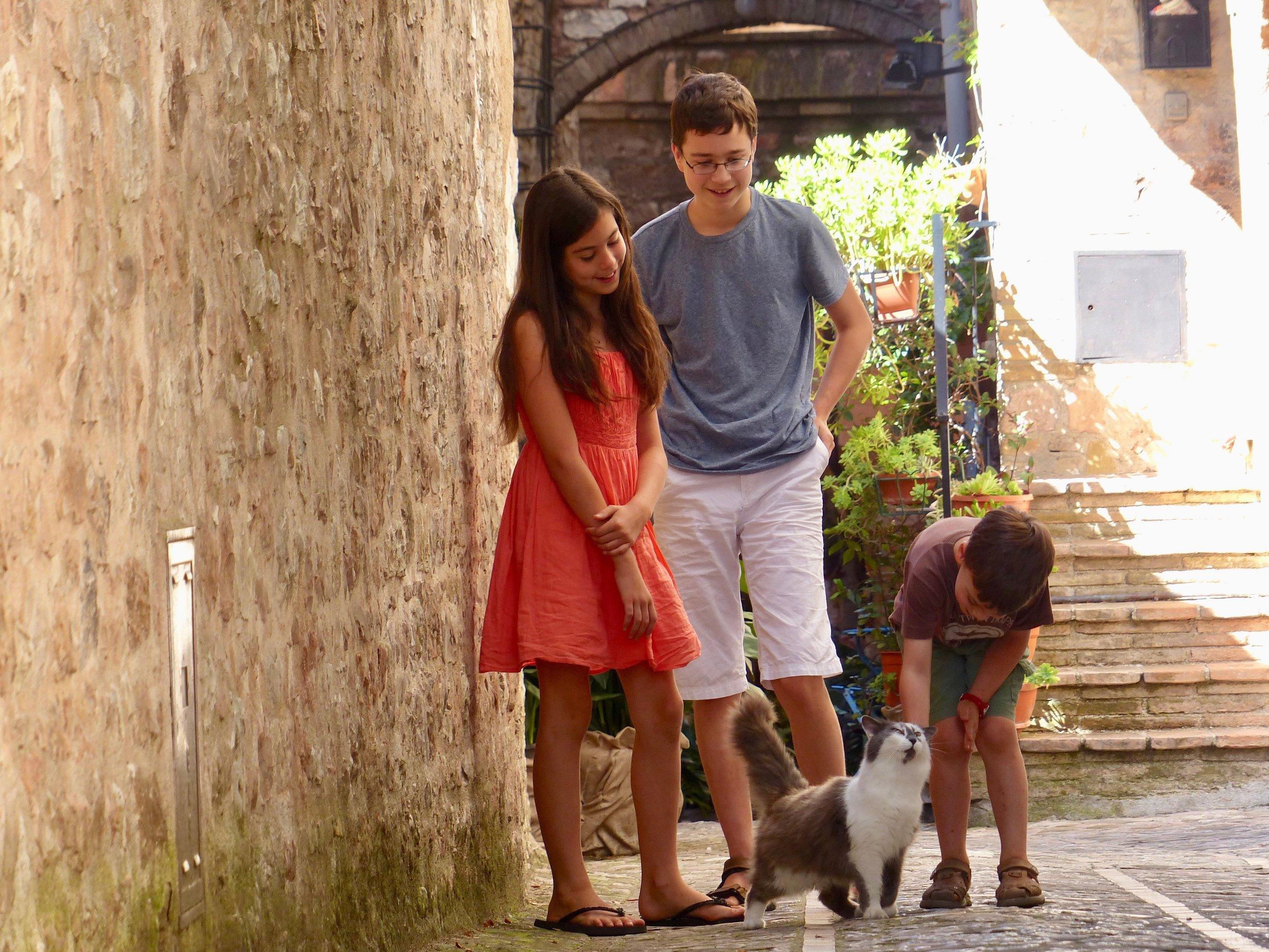 Kids in Spello, Italy 2013