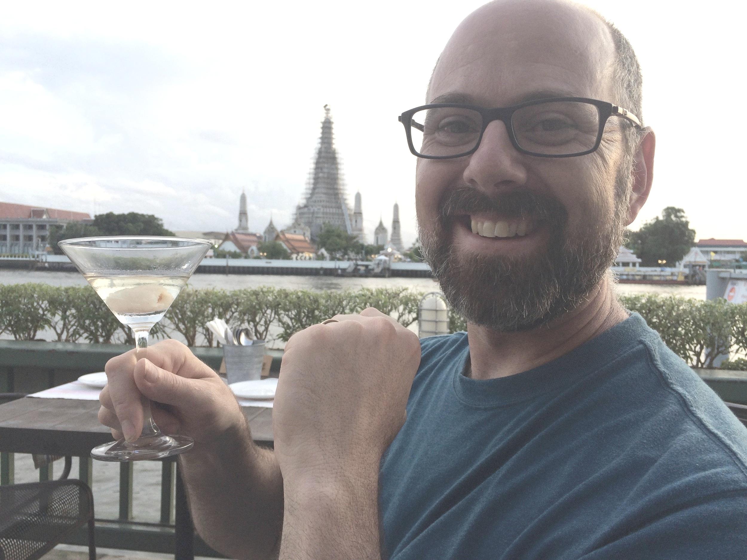 Keith's lychee martini in Bangkok