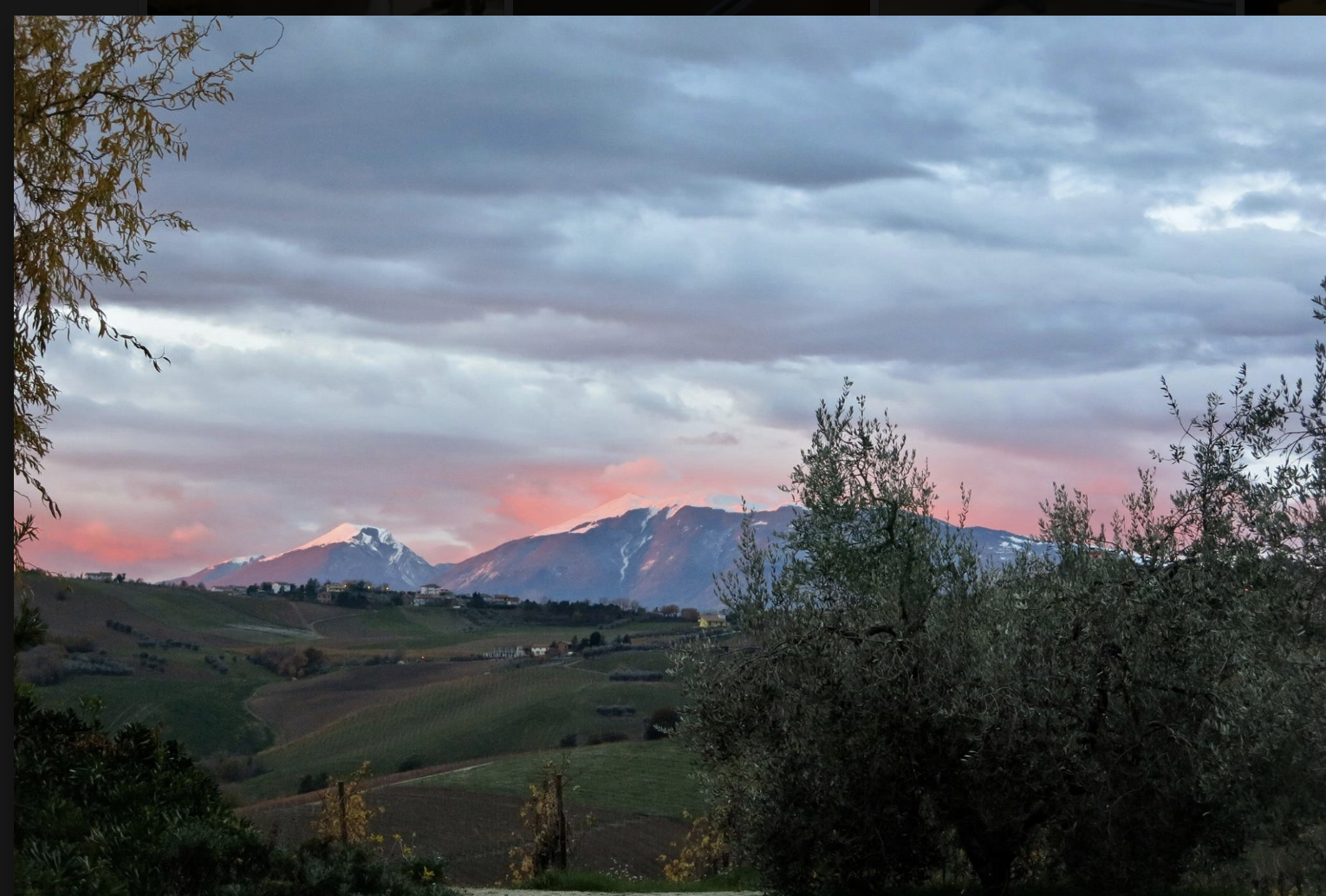 View in Le Marche, italy