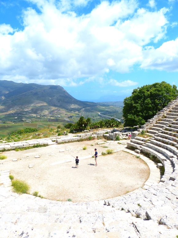 View from Segesta, Sicily, Italy