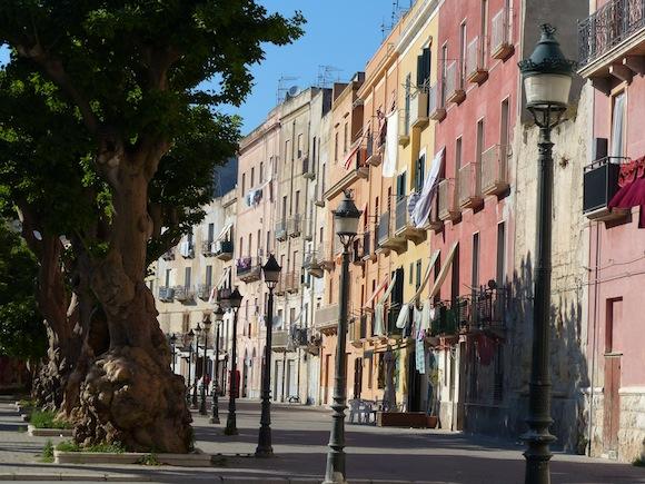 Street in Trapani, Sicily, Italy
