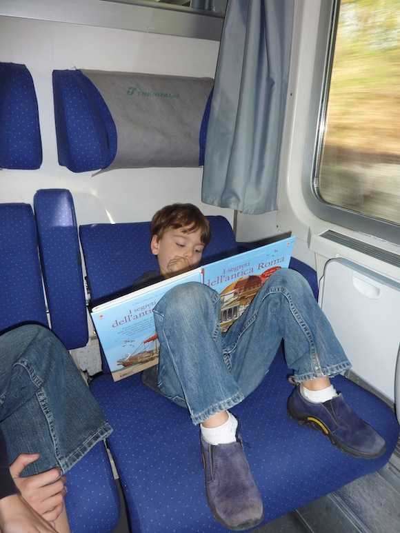 On the Train to Rome, italy