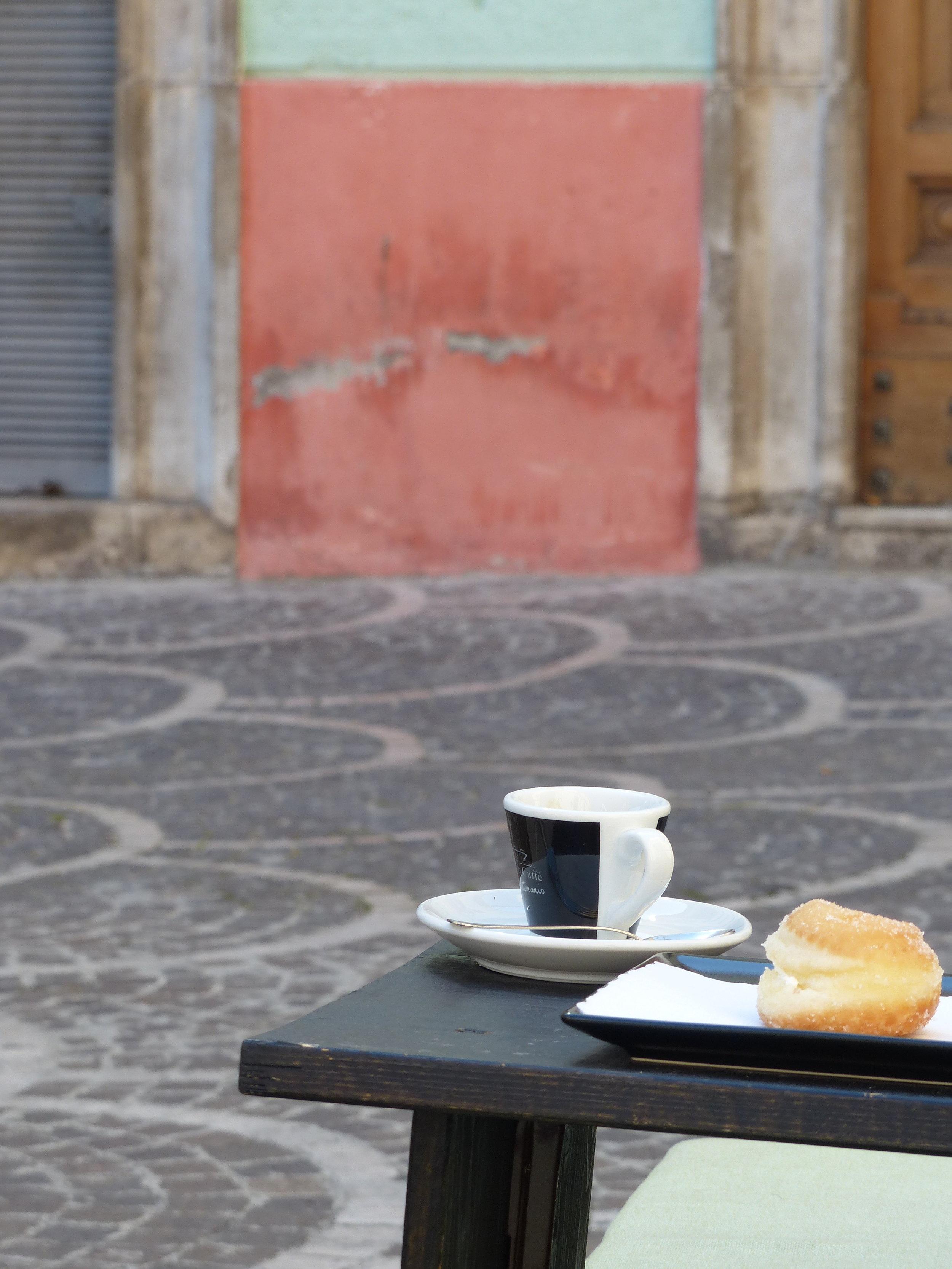 Coffee in Sulmona, Italy