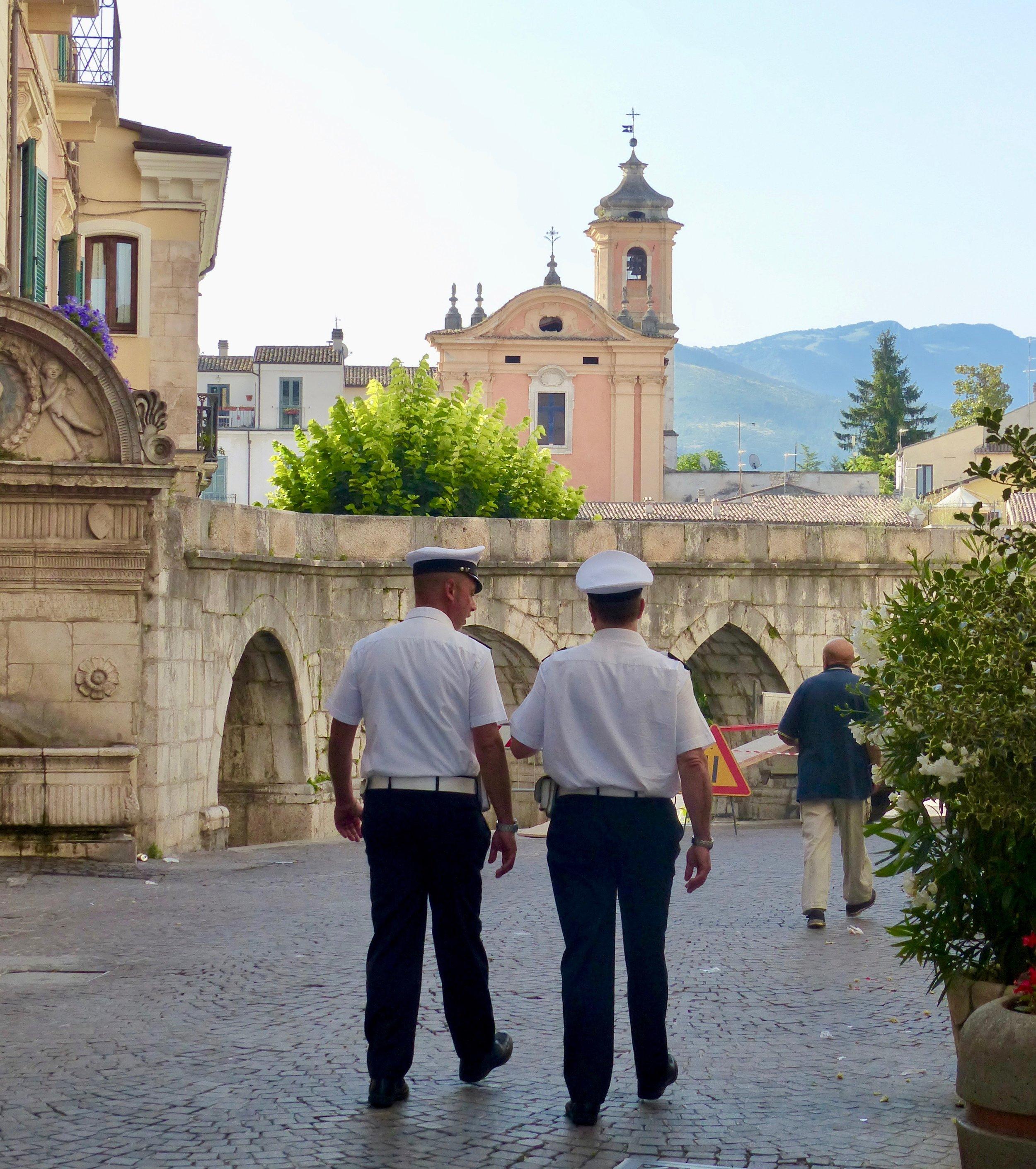 Police strolling in Sulmona