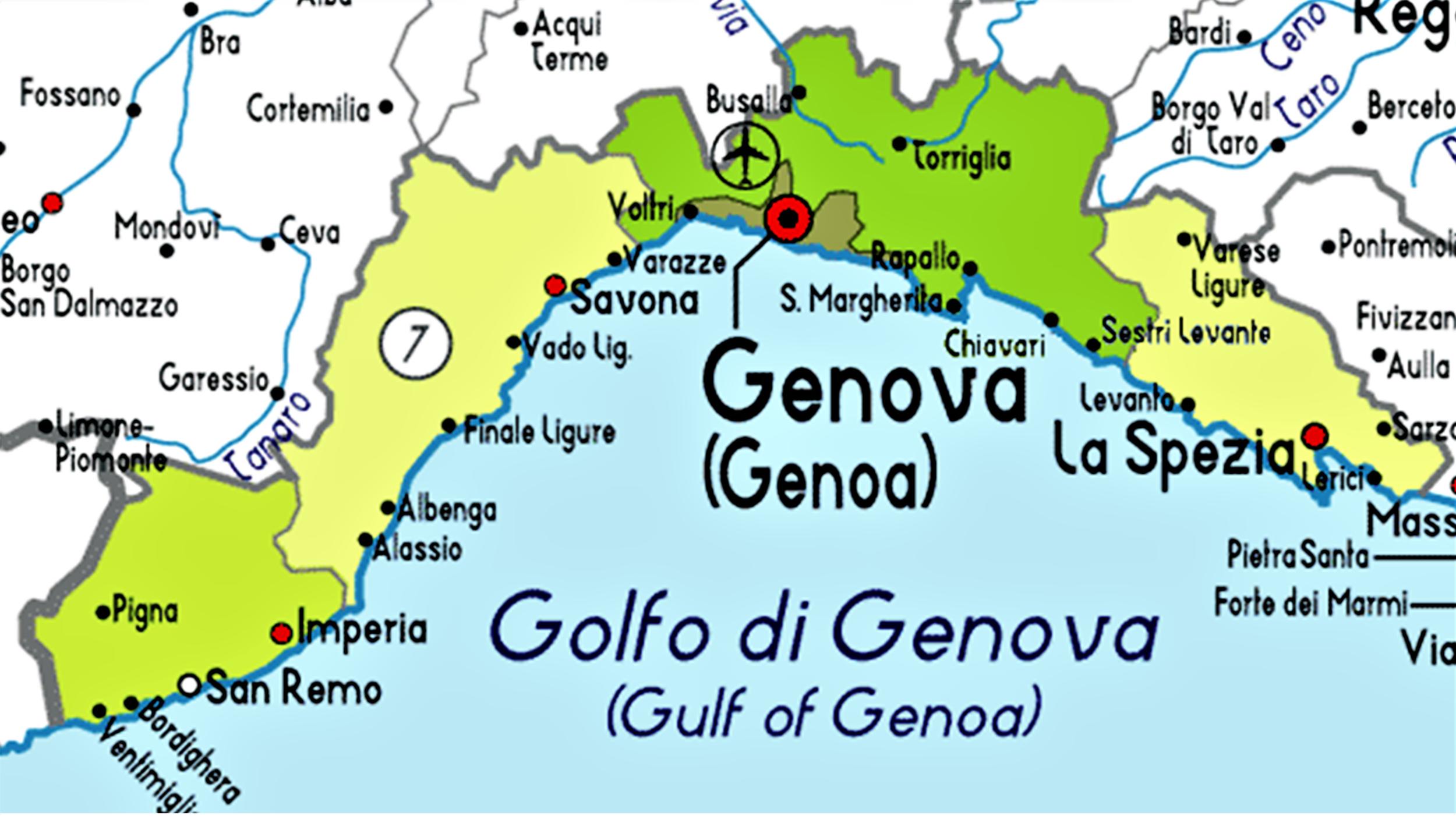 Genoa map