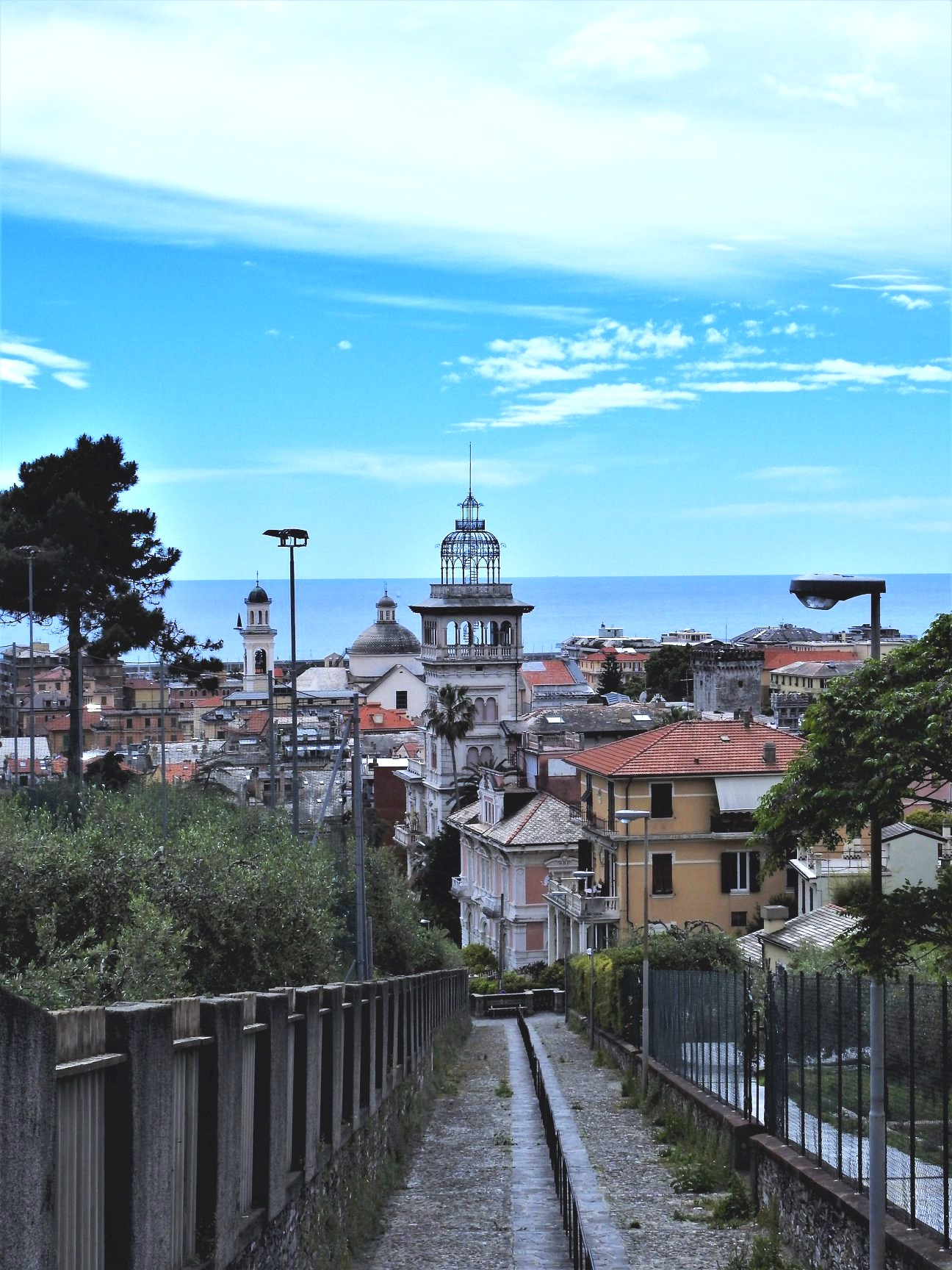 Chiavari from the hills above