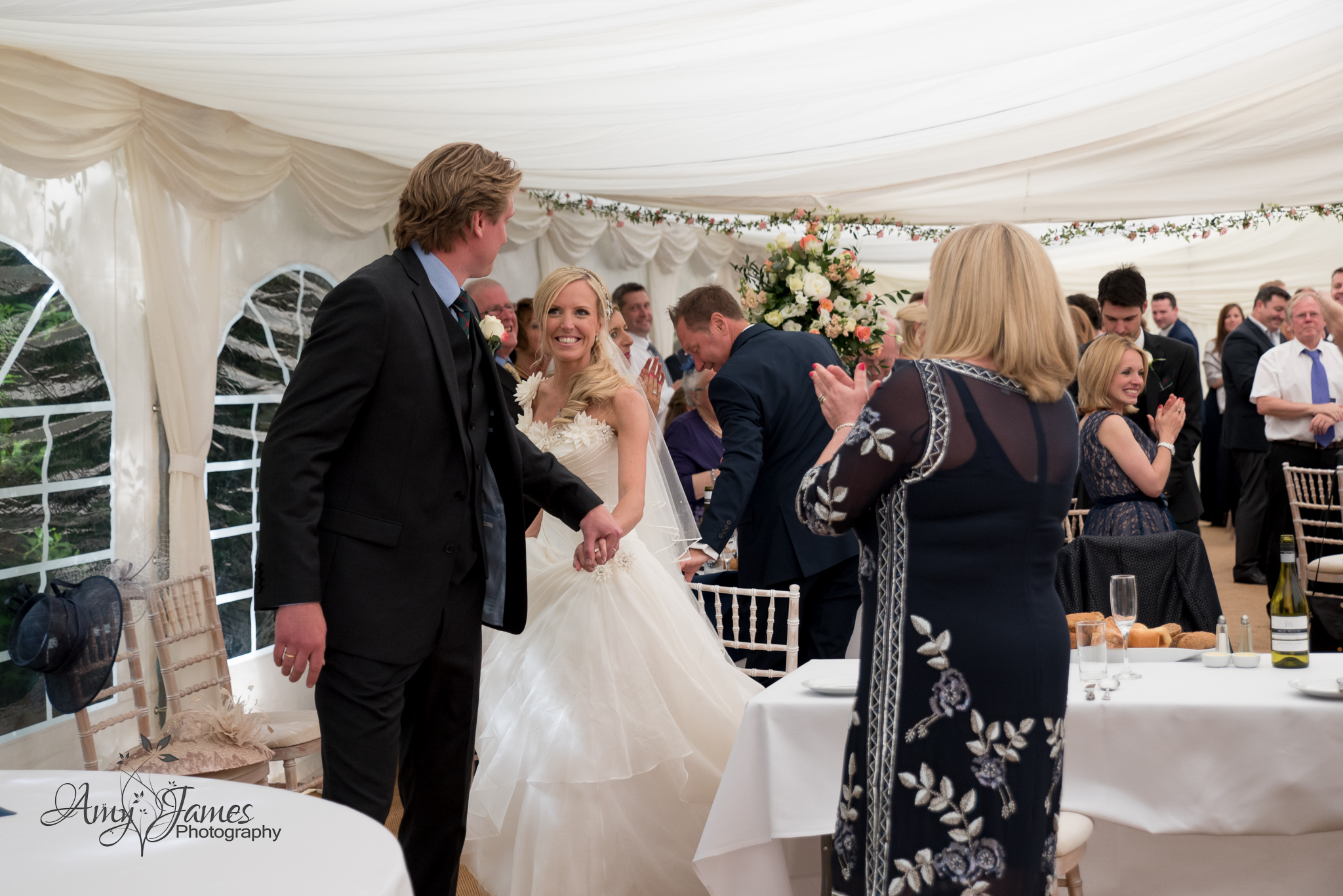 Hampshire wedding marquee