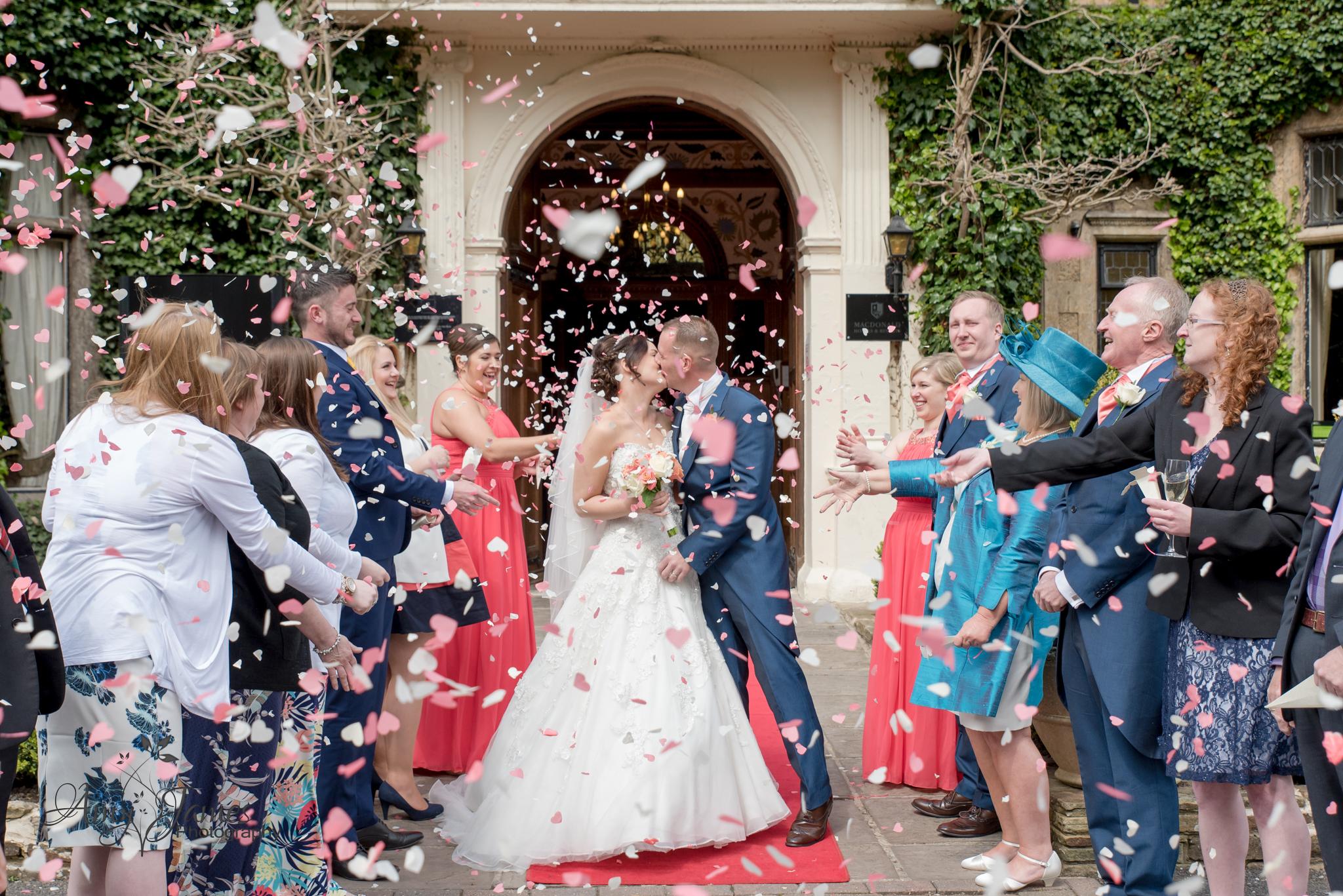Hampshire wedding photographer // Fleet wedding photographer // Frimley Hall Hotel Wedding // Confetti photo