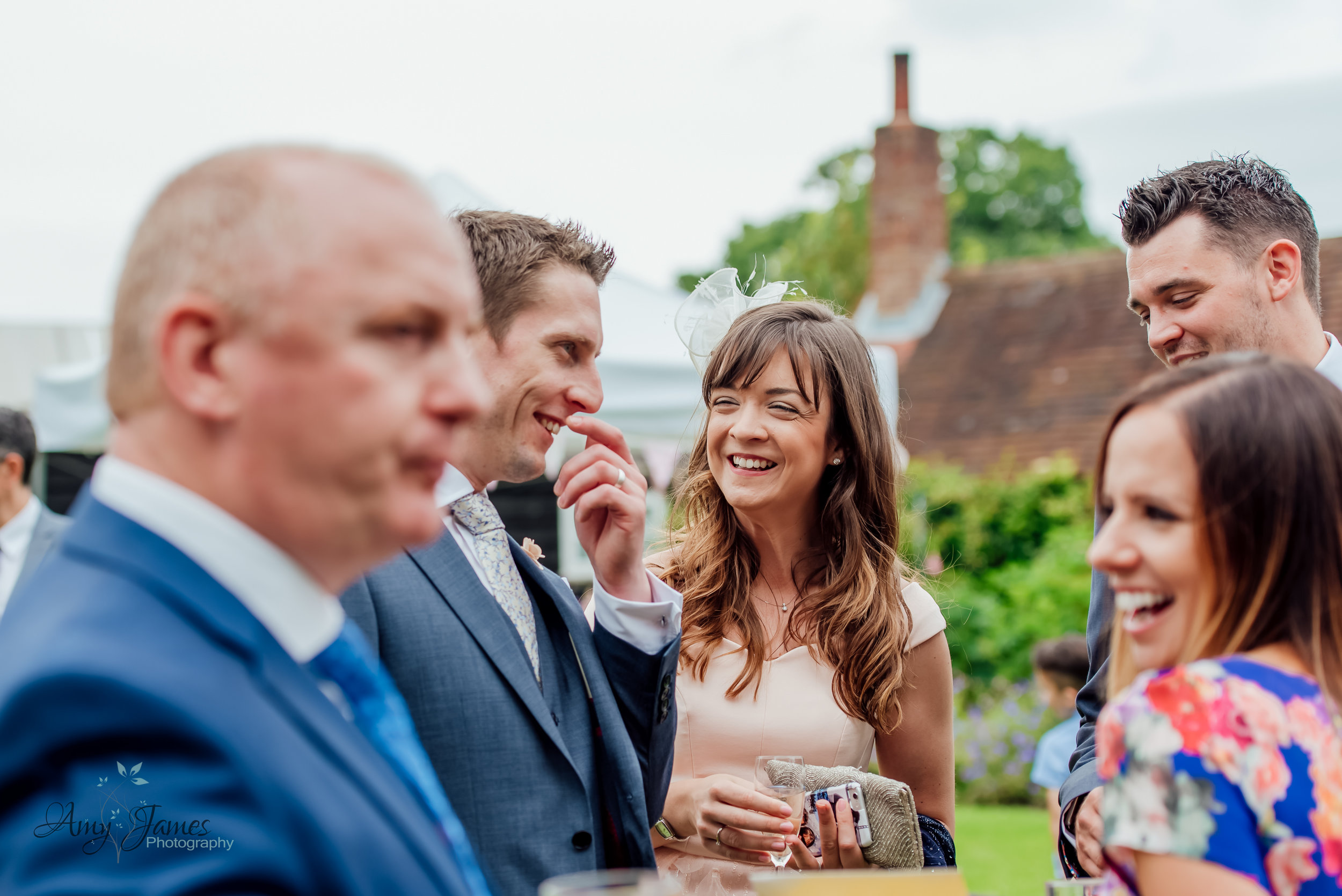 Amy James photography Hampshire Wedding photographer - Outdoor garden wedding ceremony at Taplins Place