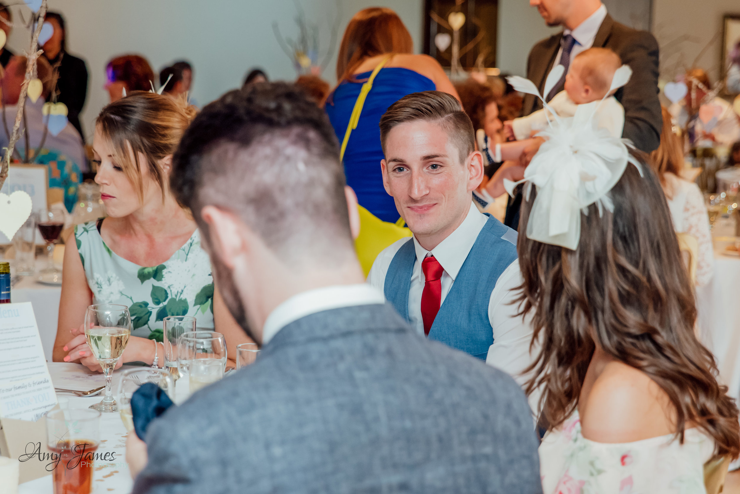 Guest at outside wedding venue Taplins Place by Amy James Photography Wedding photographer for Hampshire and Surrey