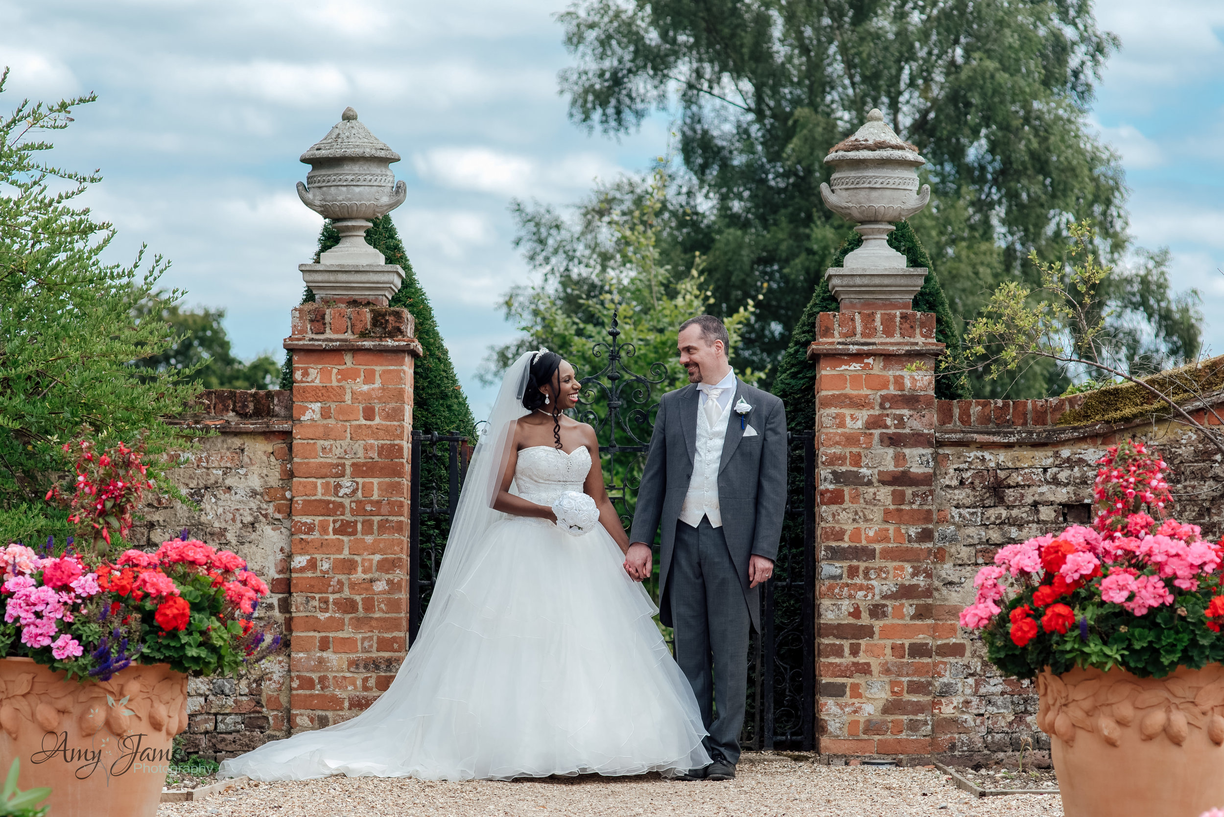 Bride and Groom at the Hampshire Four Seasons Hotel Wedding Venue by Amy James  Photography  Wedding Photographer for Hampshire and Surrey