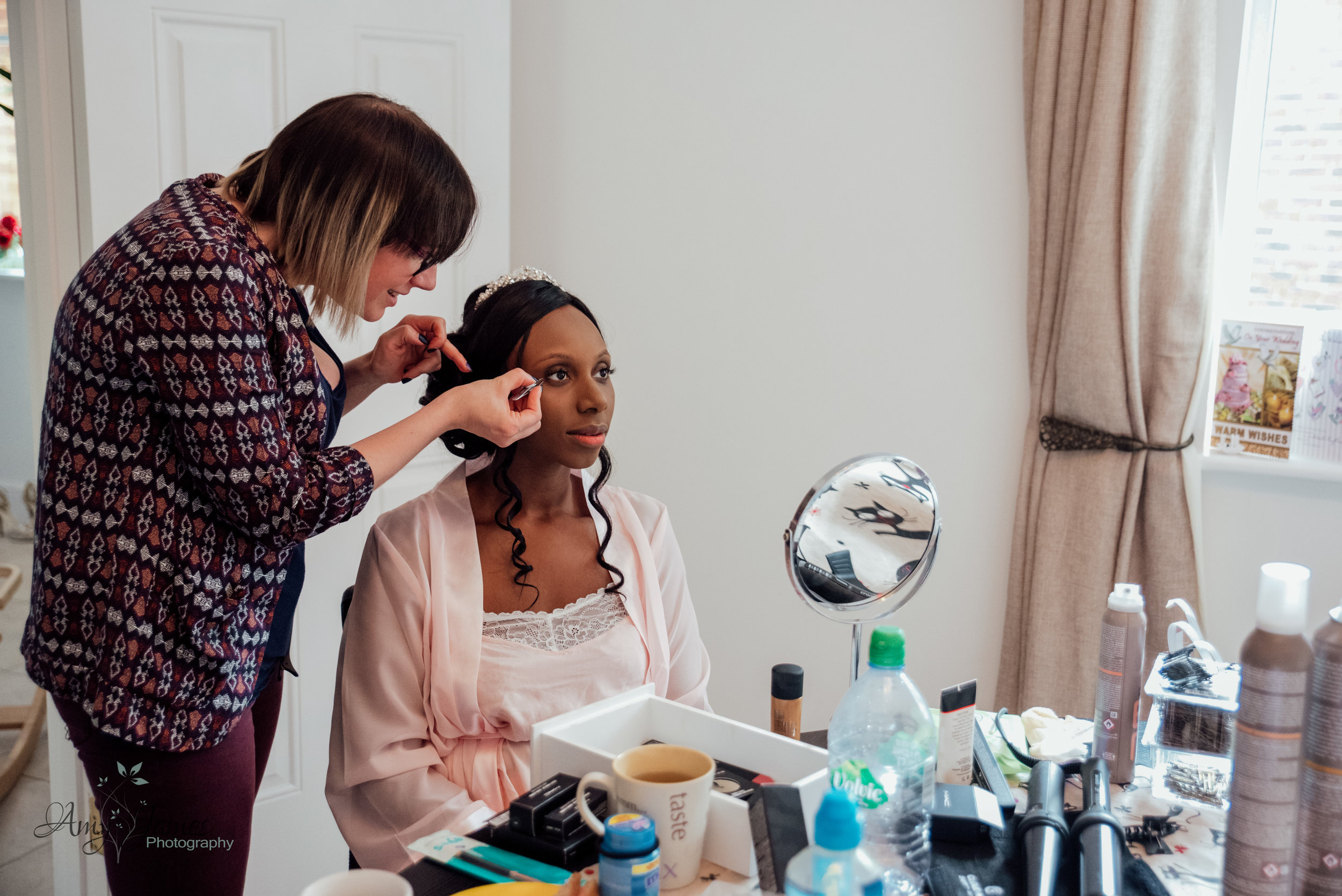Bridal prep Four Seasons Hotel Hampshire by Amy James Photography - documentary photographer for Hampshire and Surrey