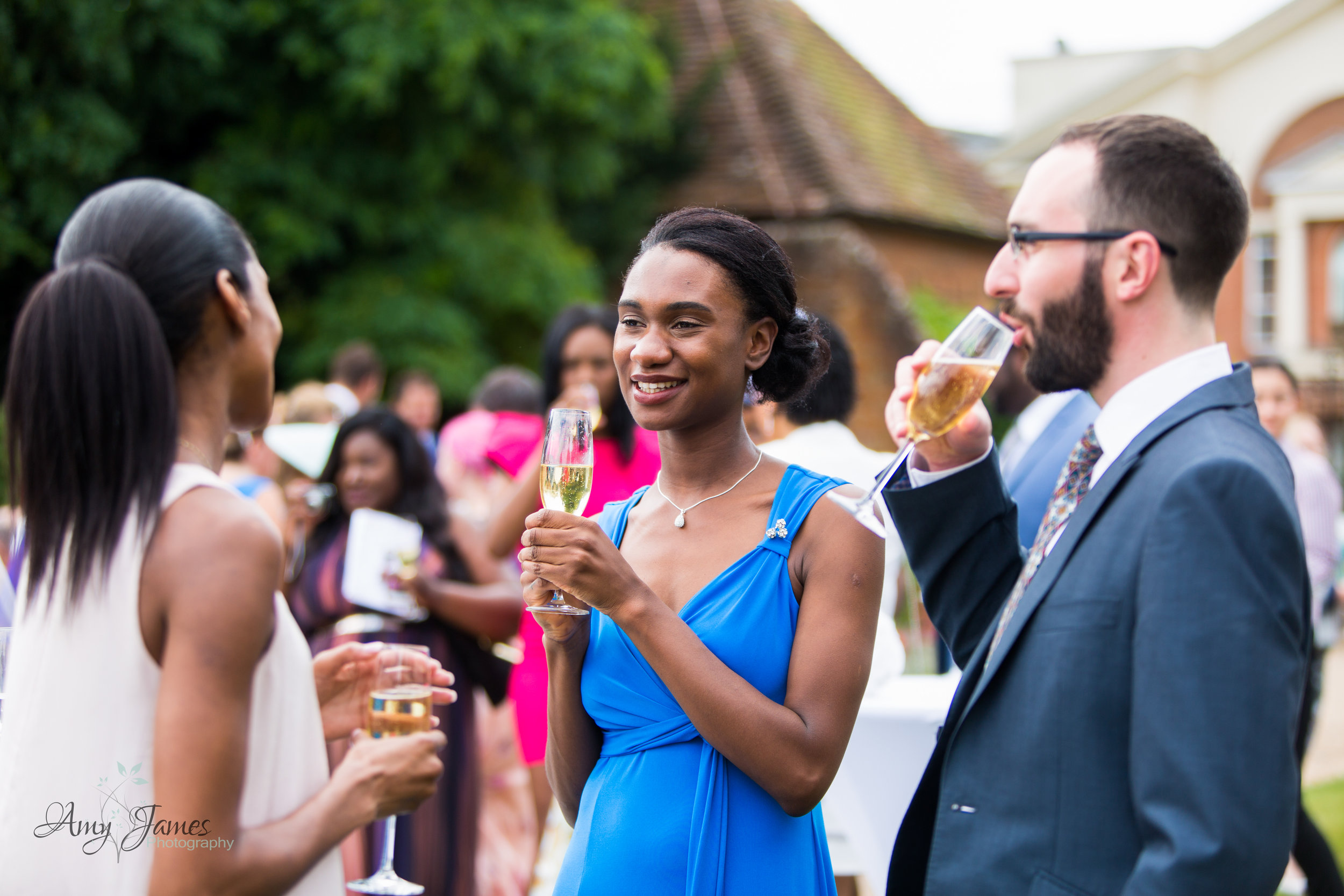 walled garden wedding reception at four seasons hotel Hampshire by documentary wedding photographer Amy James photography