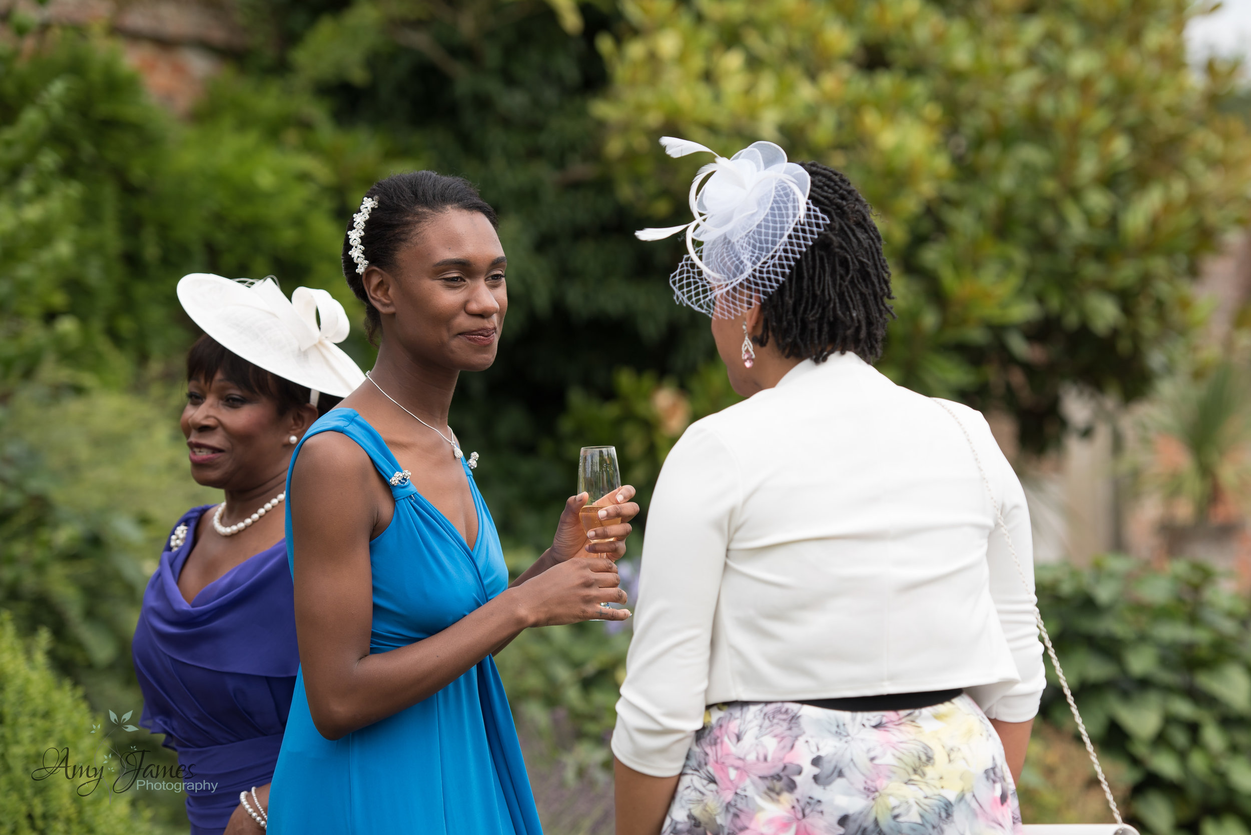 Four Seasons Hotel Hampshire drinks reception in walled garden - Amy James Photography