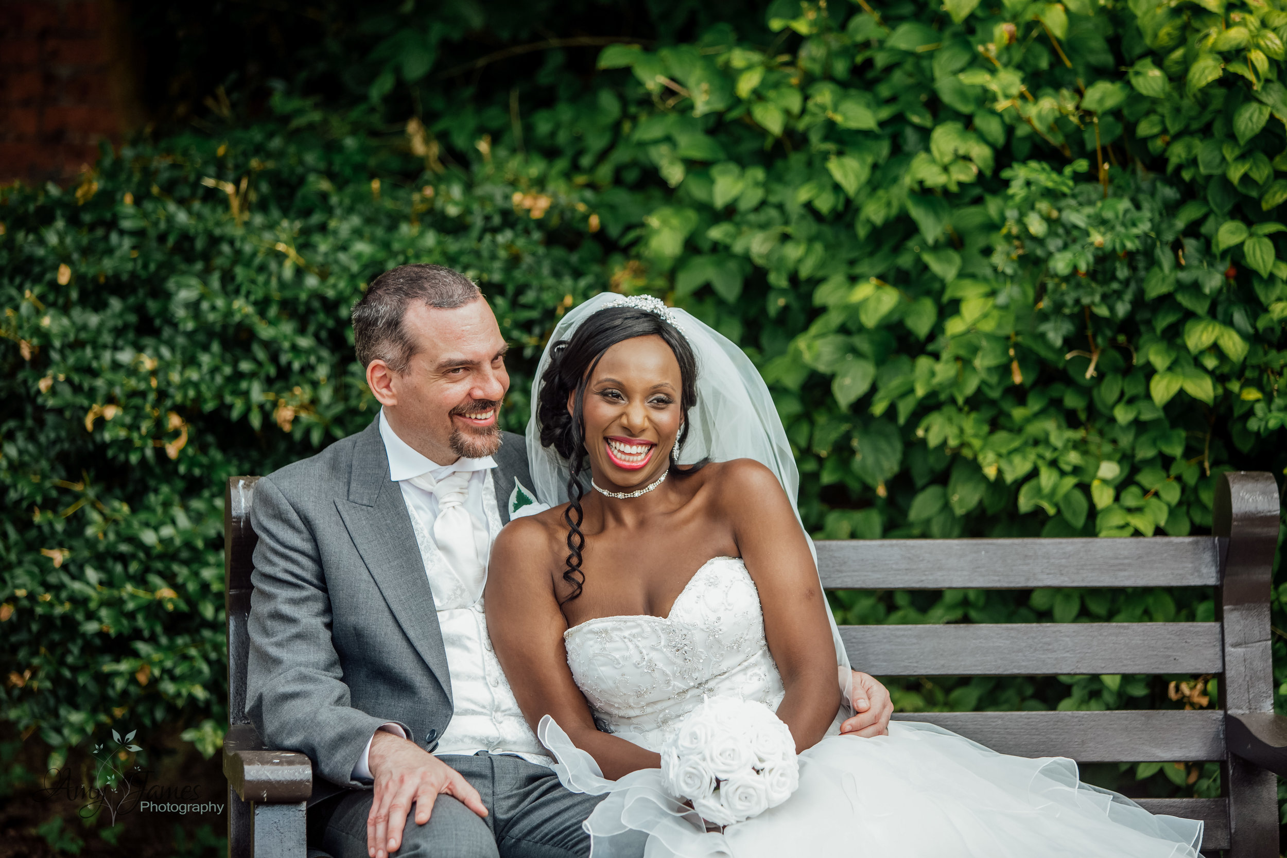 Bride and Groom at Four Season Hotel Hampshire Wedding by Amy James Photography - Documentary wedding photographer for Hamshire and Surrey