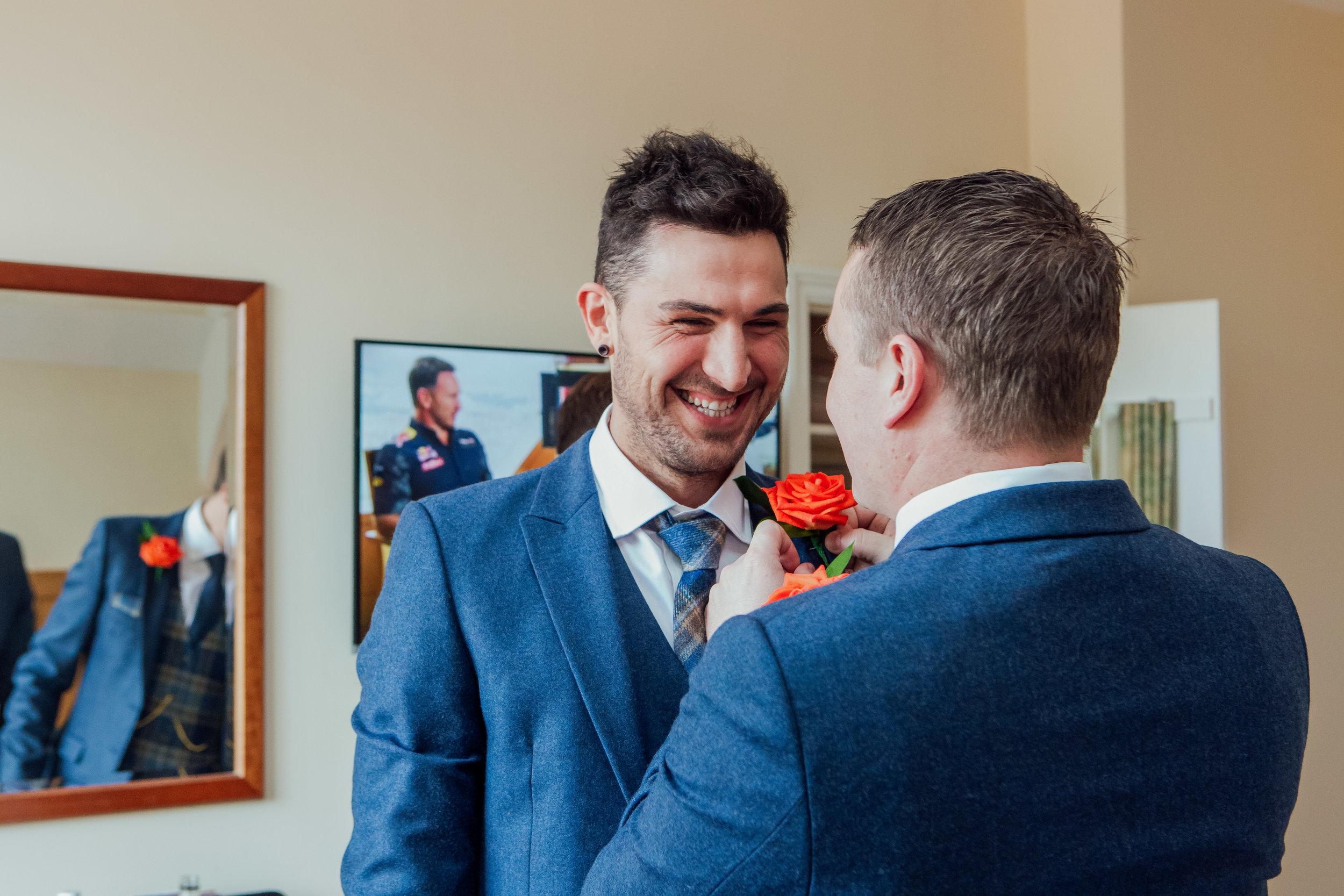 Wedding phohotgrapher Hampshire - The Elvetham Wedding / Groom Prep - Amy James Photography