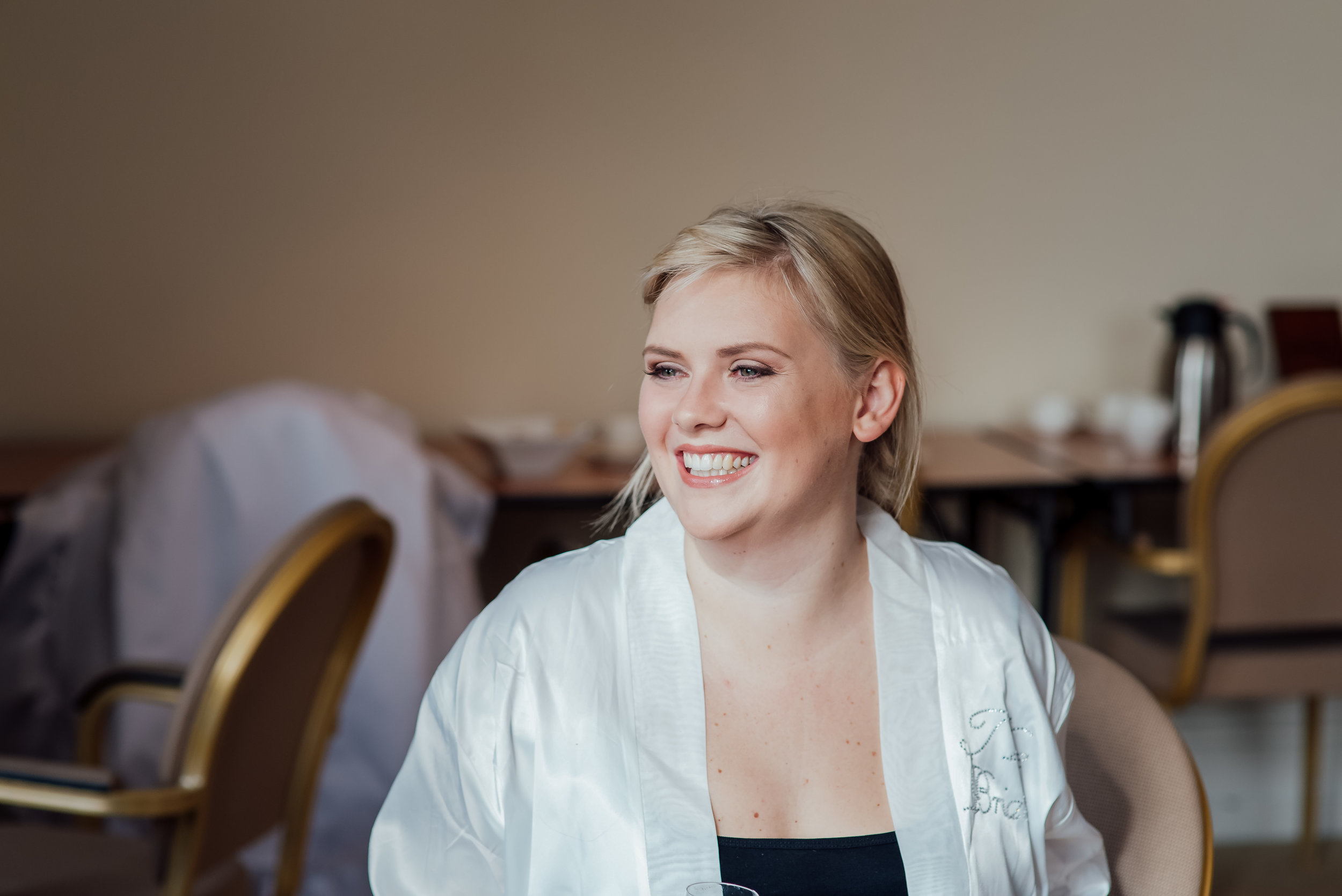 Bride getting ready at The Elvetham Wedding venue by Hampshire Wedding Photographer Amy James Photography