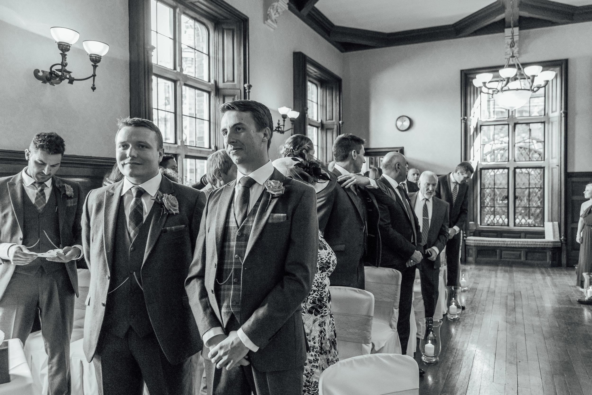 Groom awaiting arrival of Bride - The Elvetham Wedding Venue - Amy James Photography - Hampshire wedding photographer