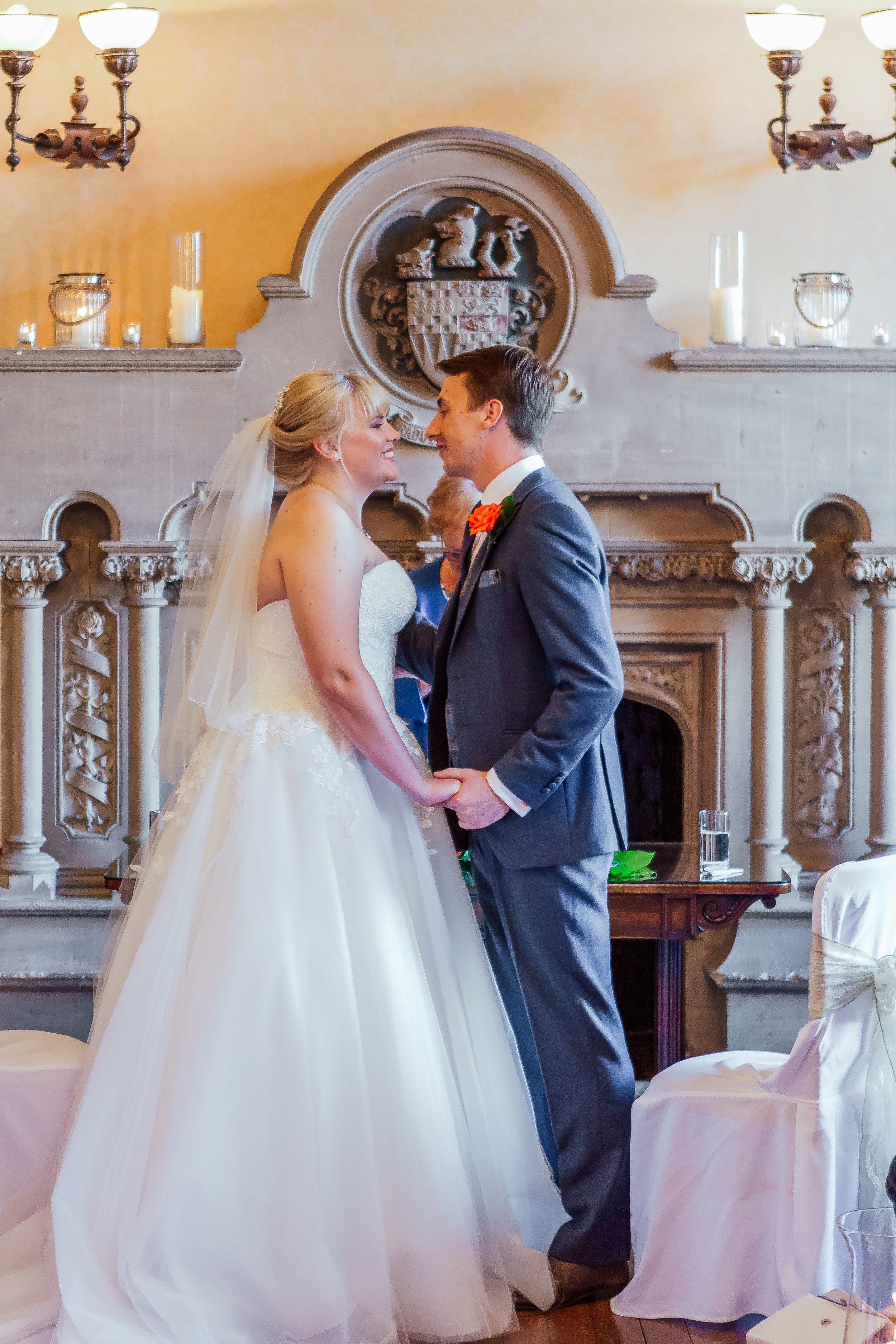 Bride and Grooms first kiss - Amy James Photography - Hampshire wedding photographer