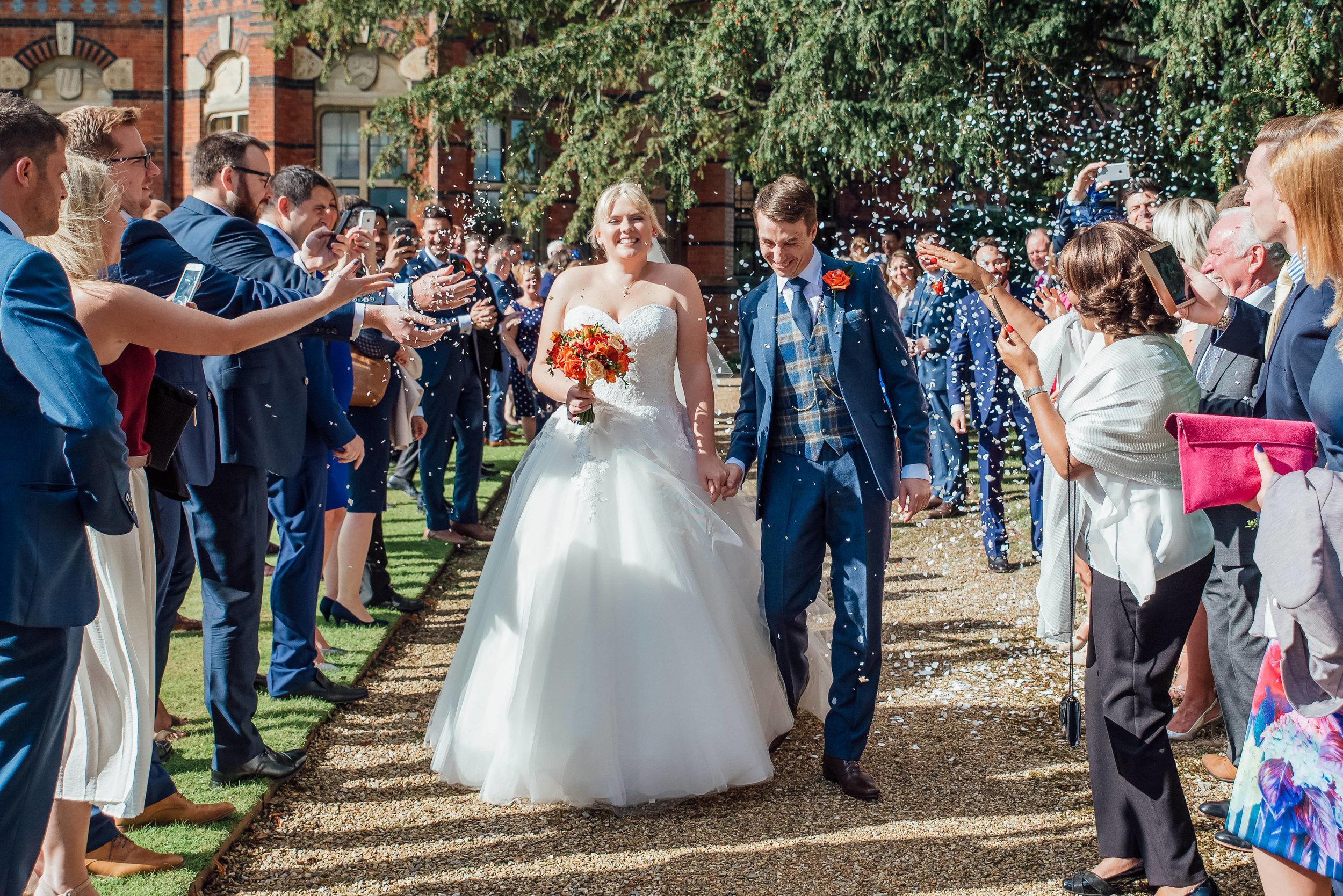 Confetti photograph at The Elvetham Fleet Hampshire - Amy James Photography - Hampshire Wedding Photographer