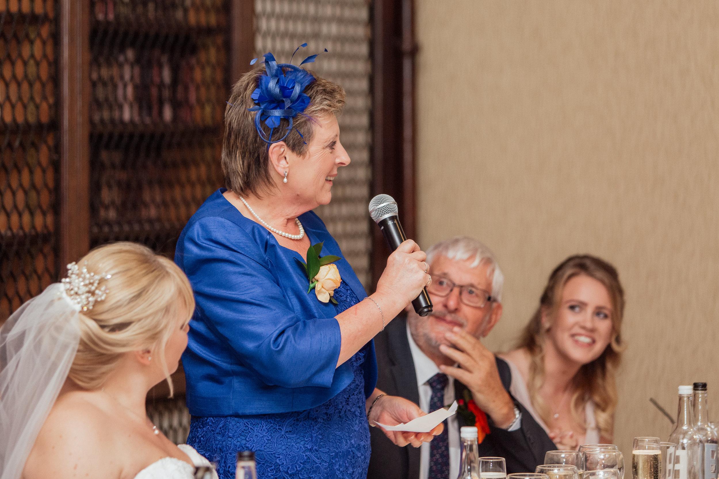 Wedding speeches at The Elvetham Wedding Venue in Fleet Hampshire