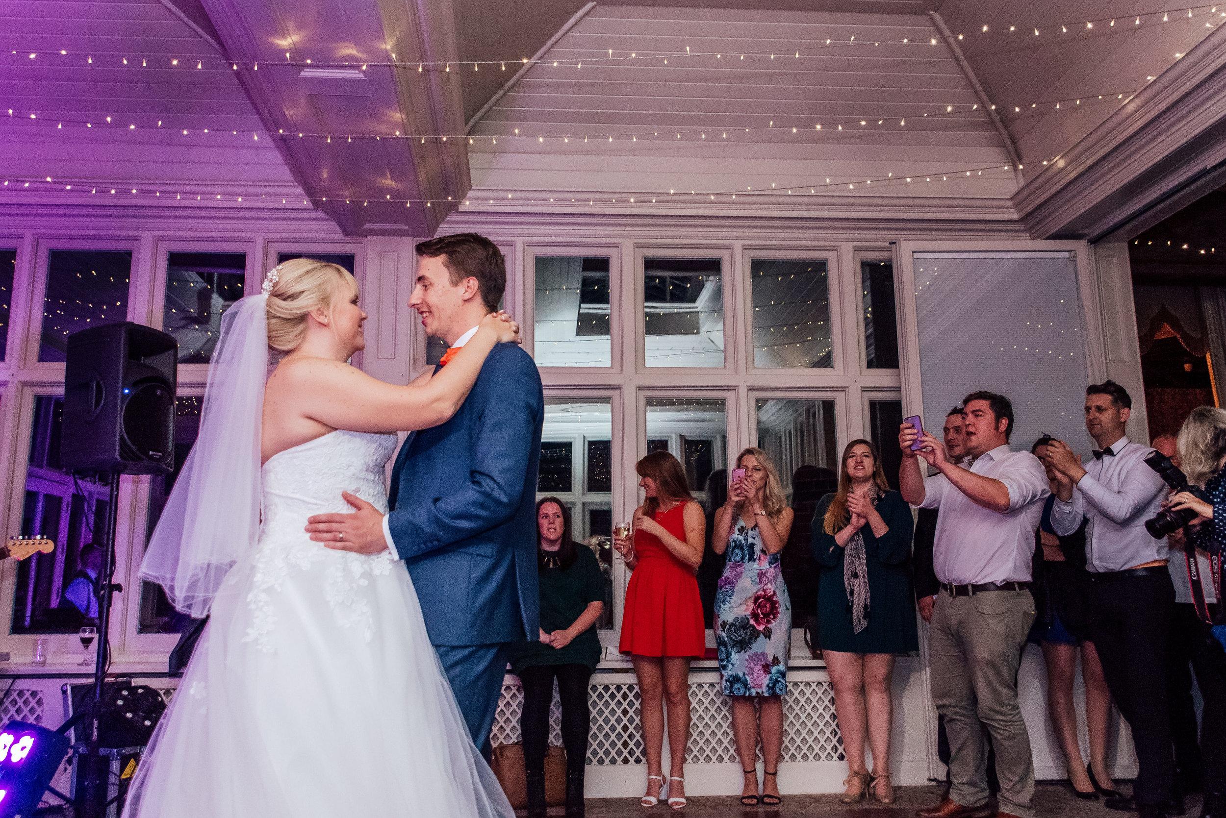 Bride and Groom fort dance - Elvetham Fleet Hampshire - Amy James photography - documentary wedding photographer Hampshire